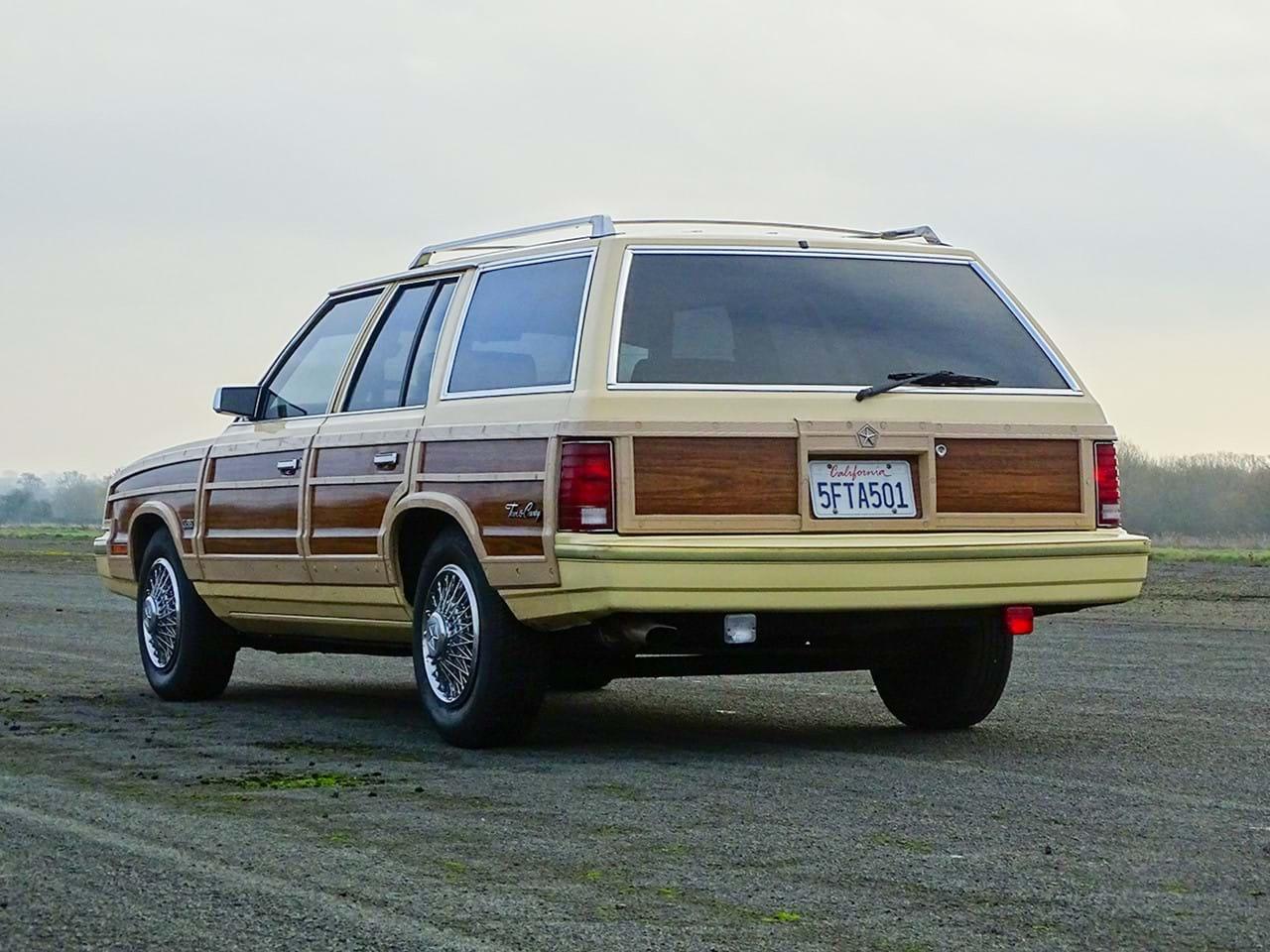 1985 Chrysler LeBaron Town and Country Wagon 3/4 rear