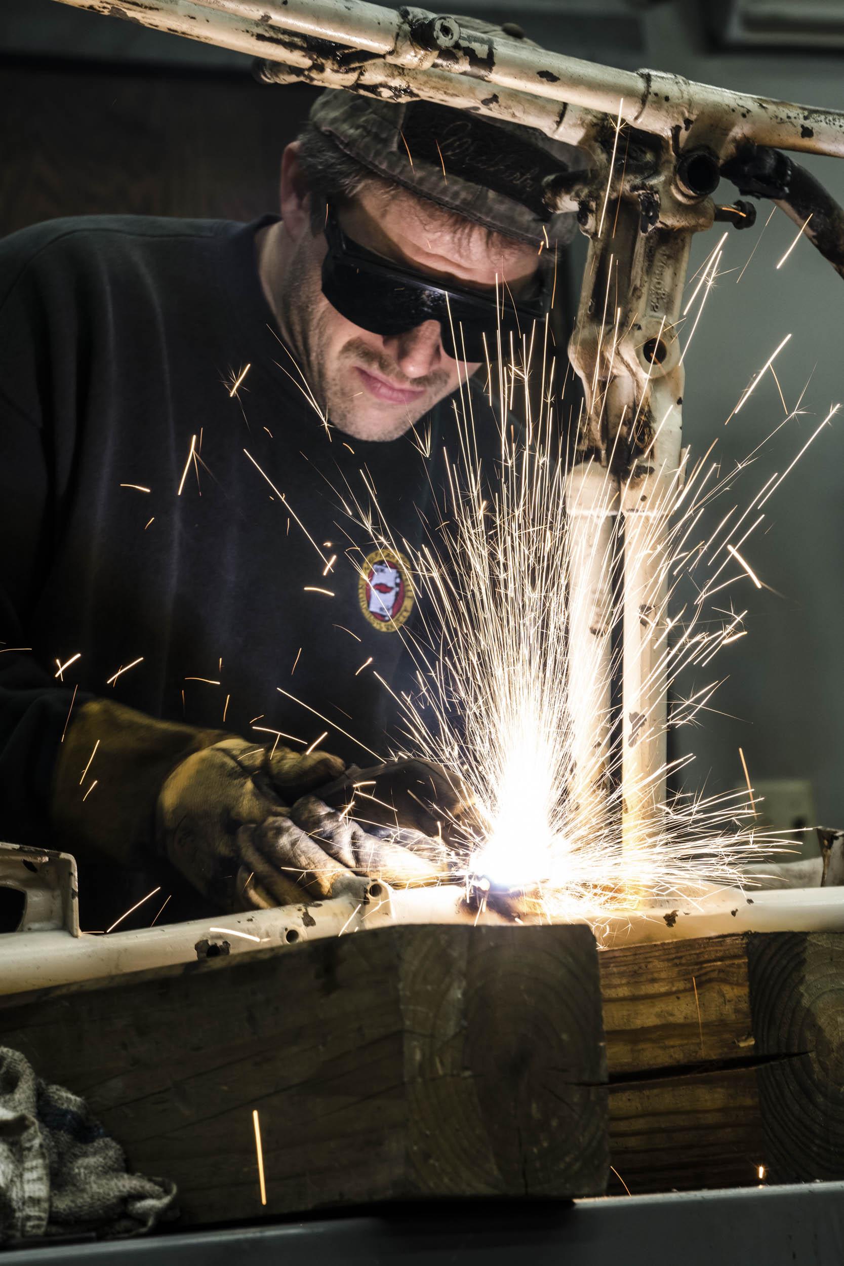 Davin Reckow welding