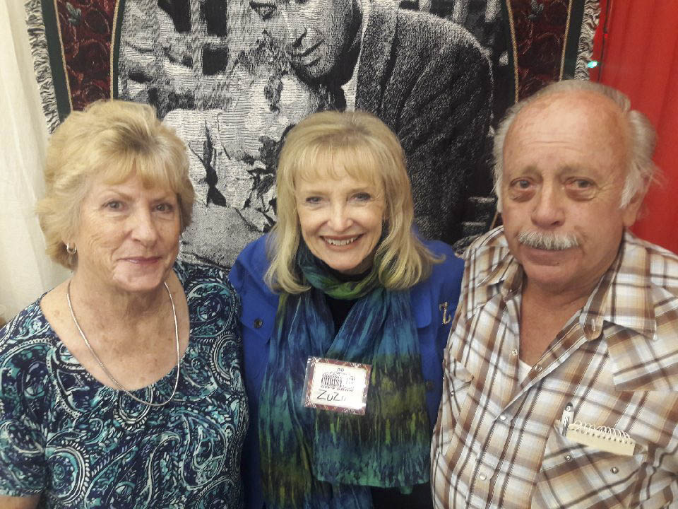 Karolyn Grimes, who played Zuzu Bailey in It's A Wonderful Life, with Keith and Marilyn Smith