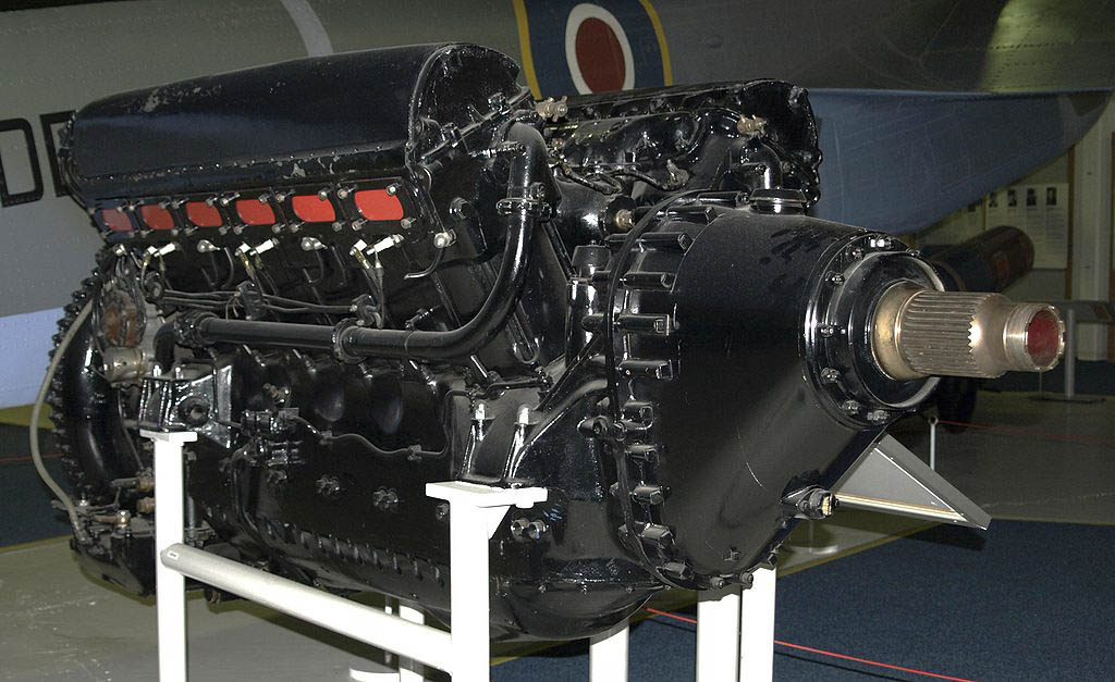 Rolls-Royce R V-12 aircraft engine