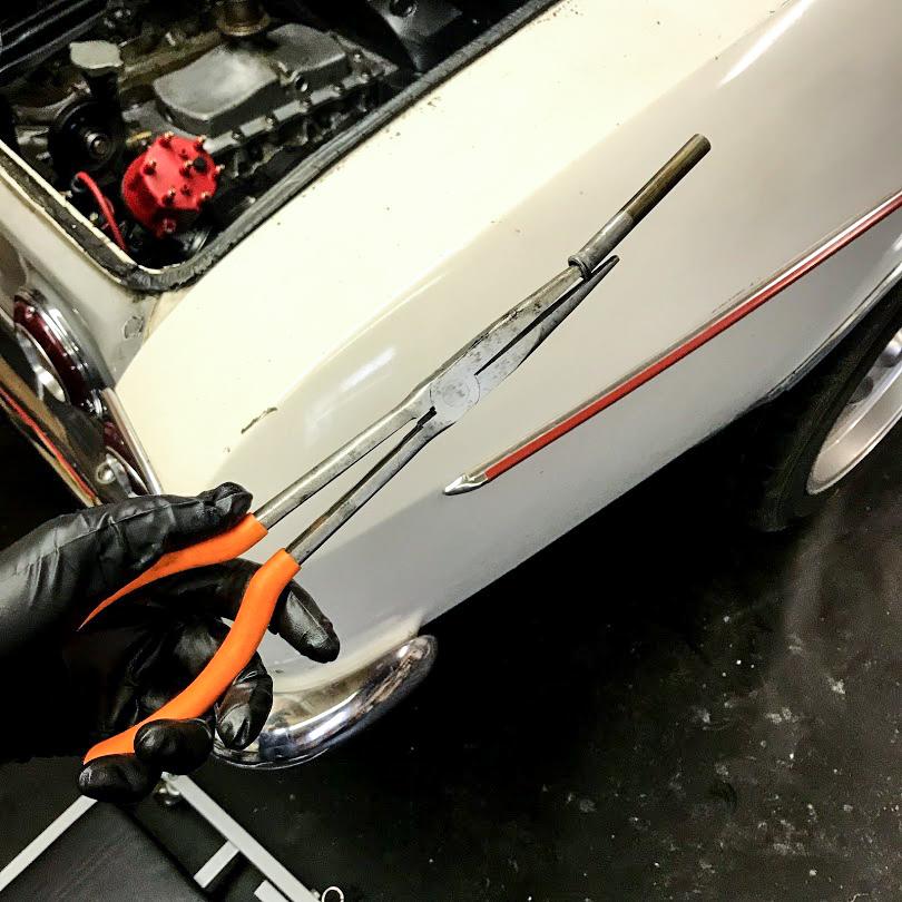 1965 Chevrolet Corvair Corsa dipstick tube