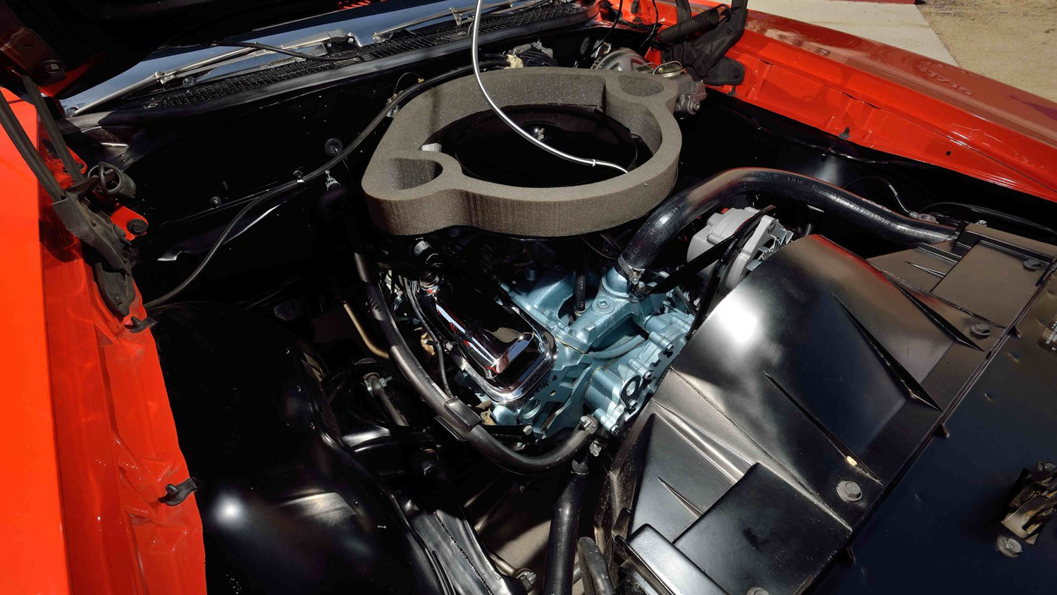 1969 Pontiac GTO Judge engine passenger side