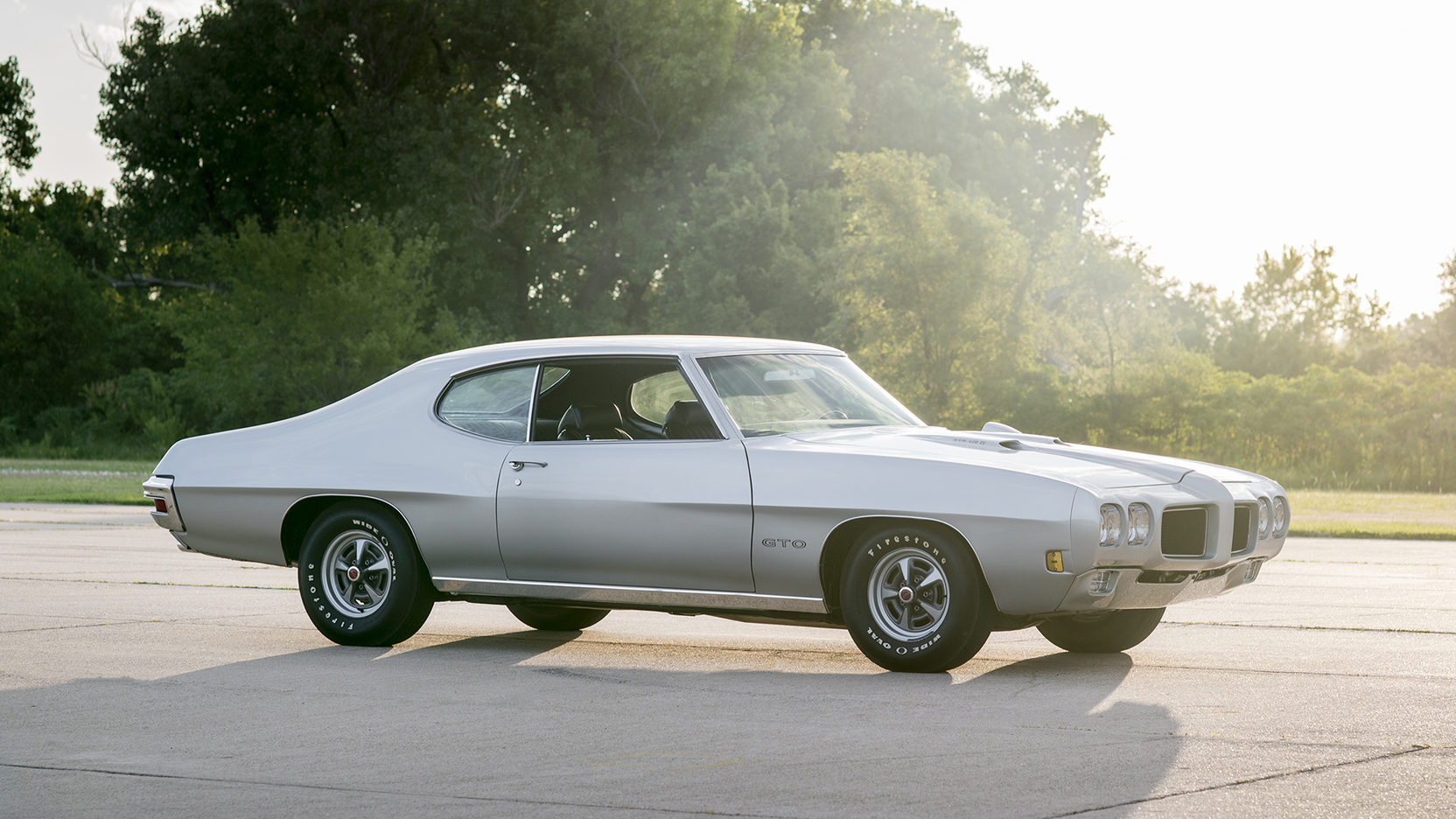 1970 Pontiac GTO Ram Air IV 3/4 passenger light beams