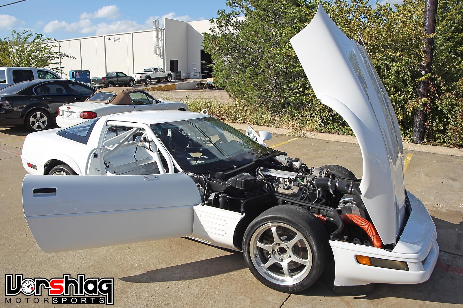 1992 Chevrolet Corvette hood open