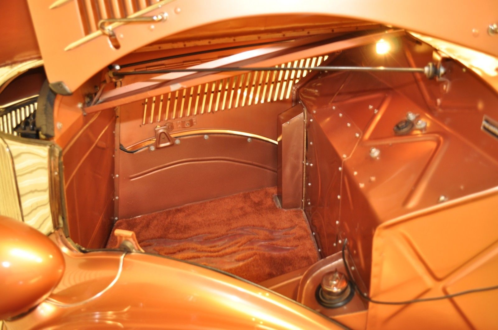 rear engine ford coupe front trunk