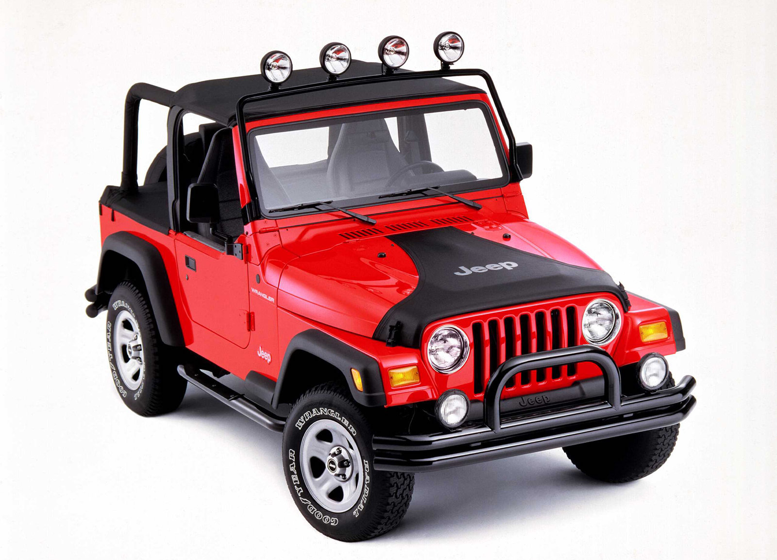 1997 Jeep Wrangler red accessories