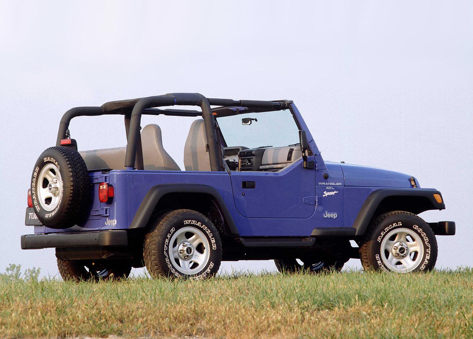 1997 Jeep Wrangler 3/4 rear