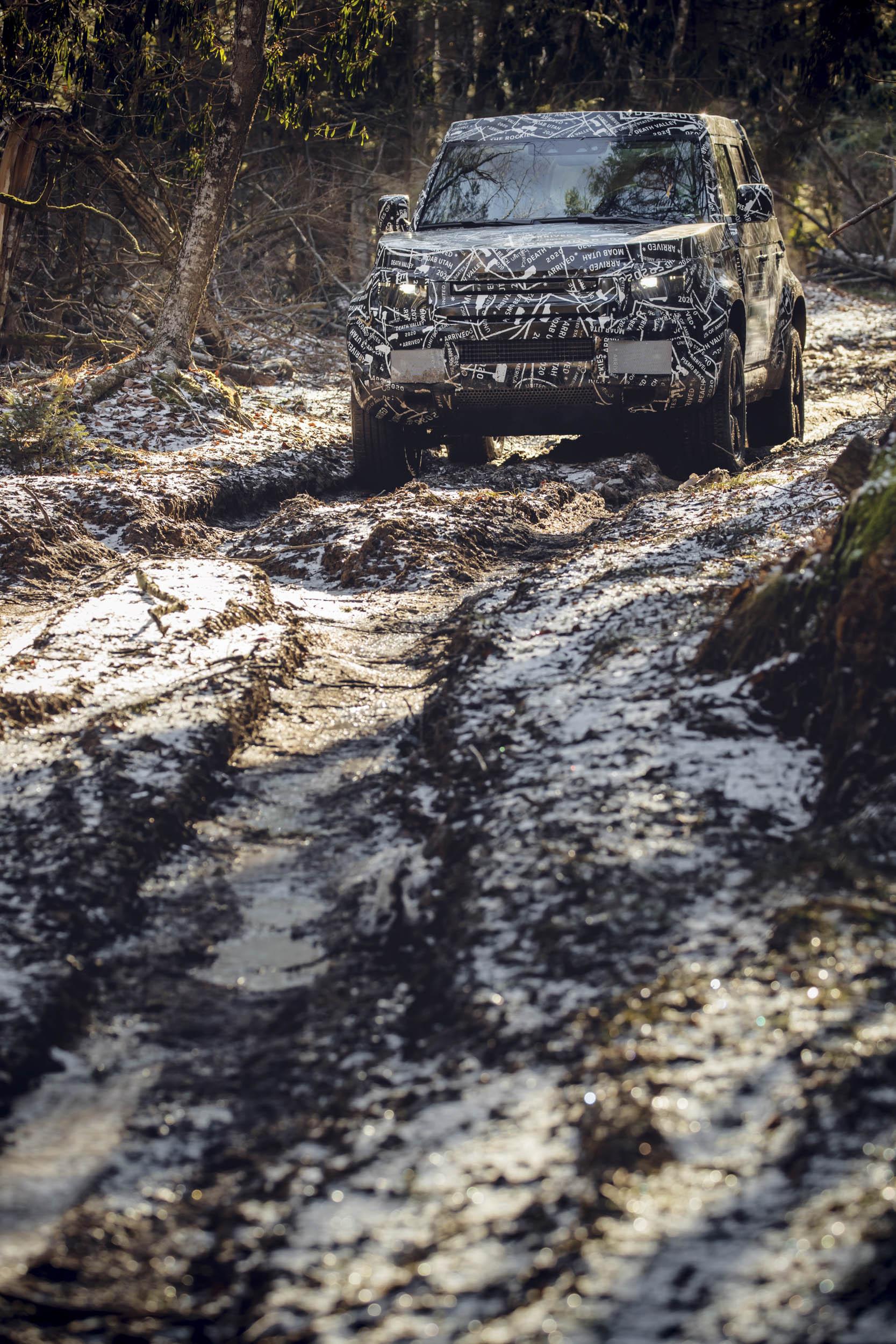 2020 Land Rover Defender mudding