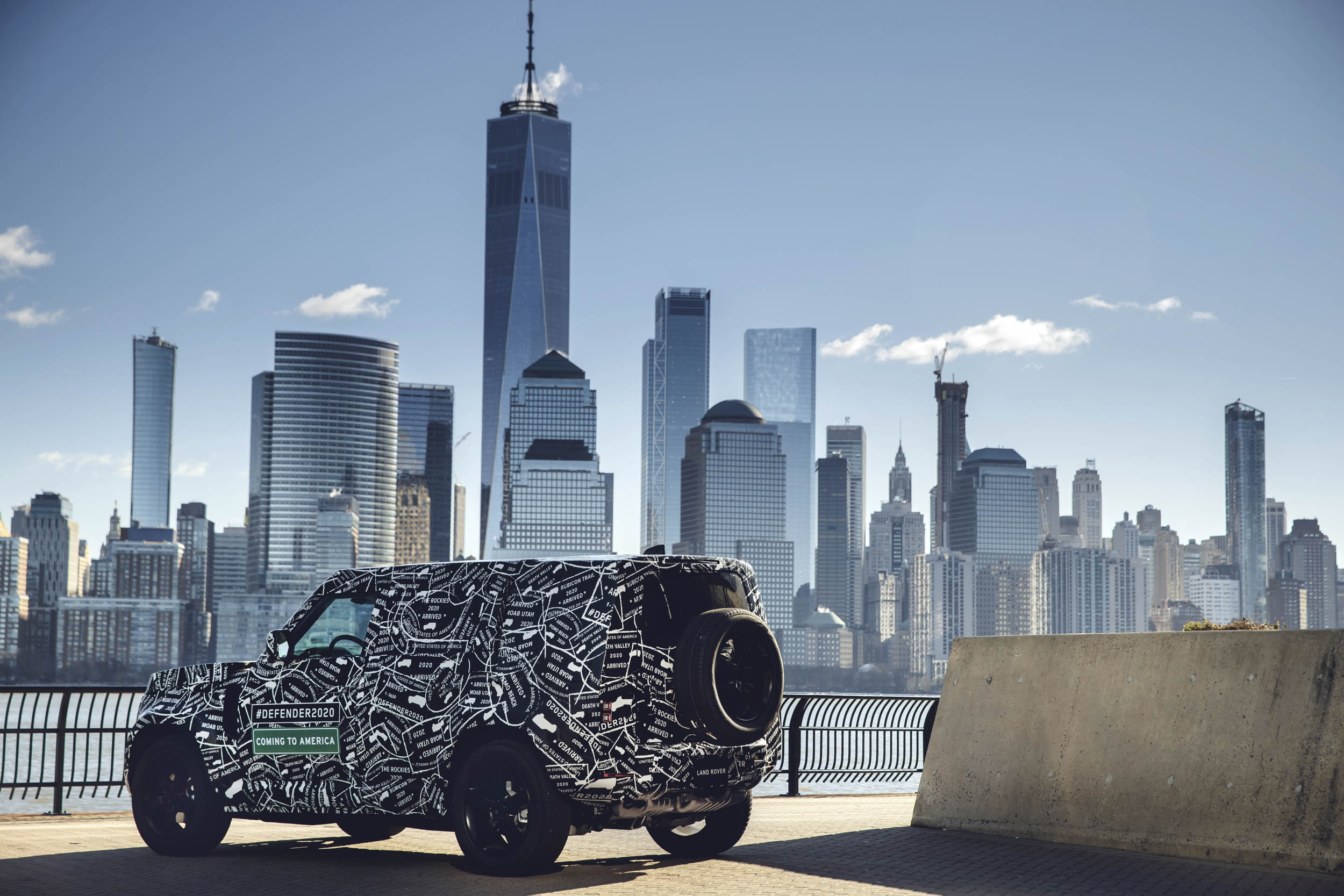 Land Rover rear 3/4 with NYC