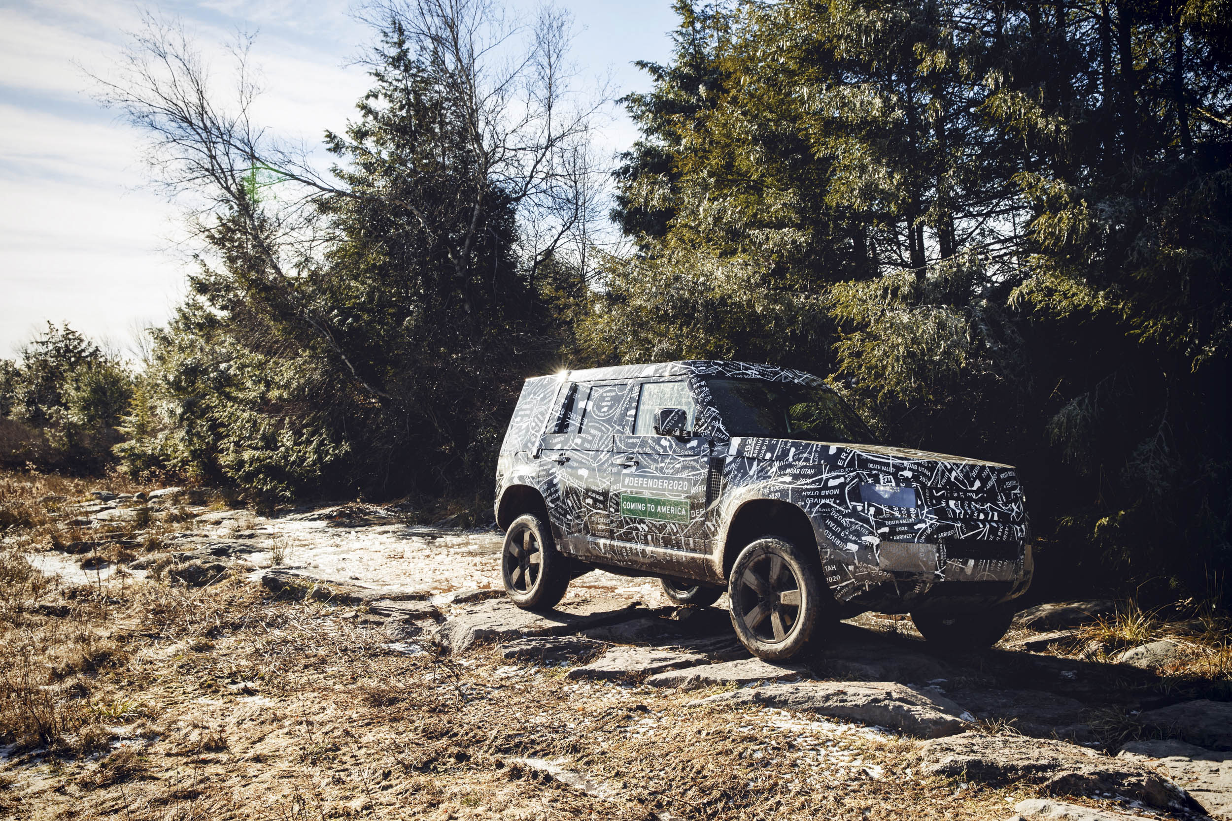 Land Rover Defender driving