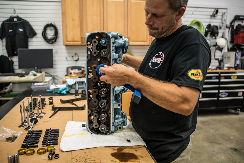 Hagerty redline rebuild pontiac 389 tri power valve spring install