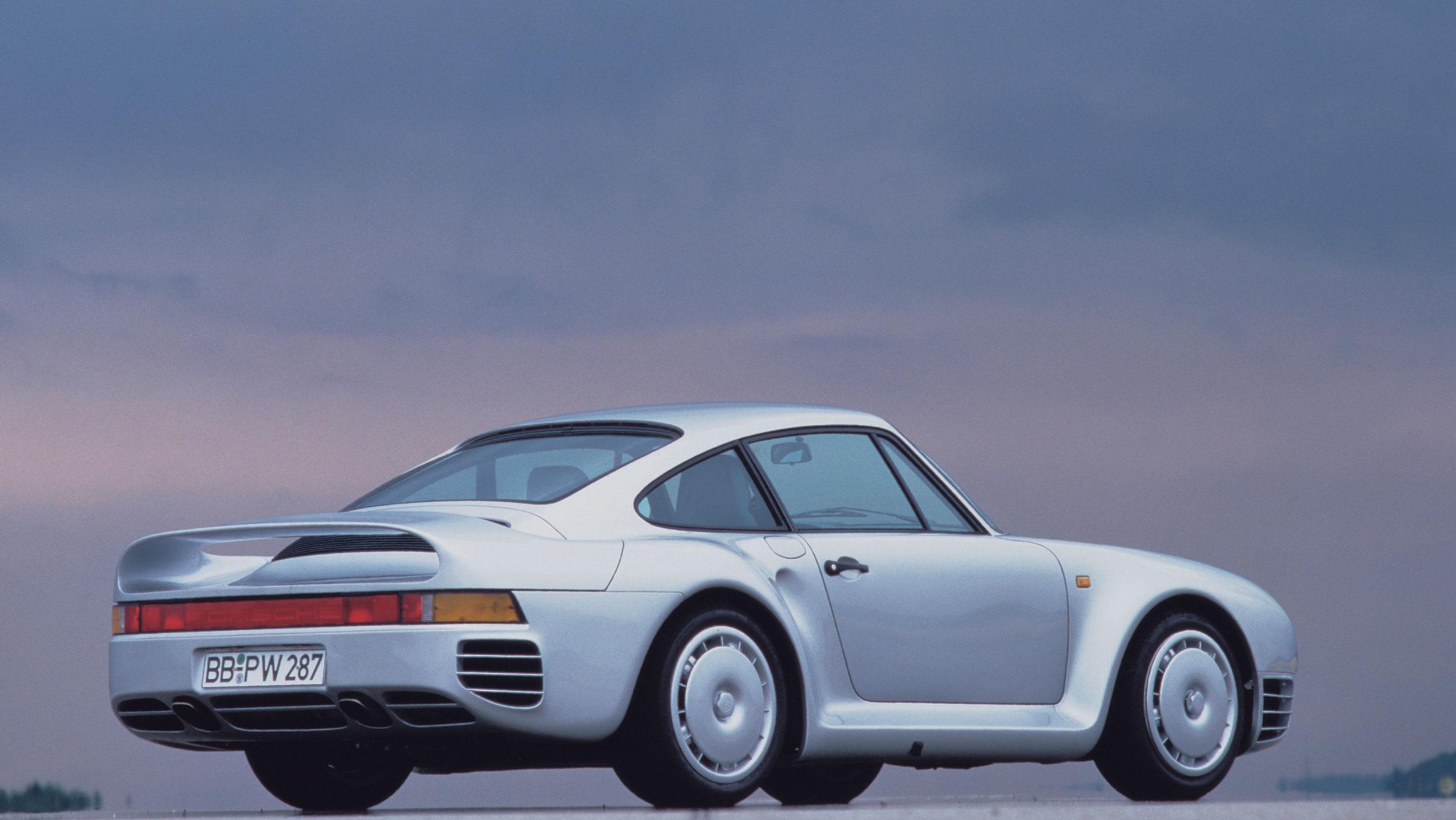 1985 porsche 959 rear 3/4