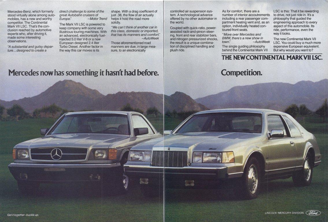 1984 Lincoln ad