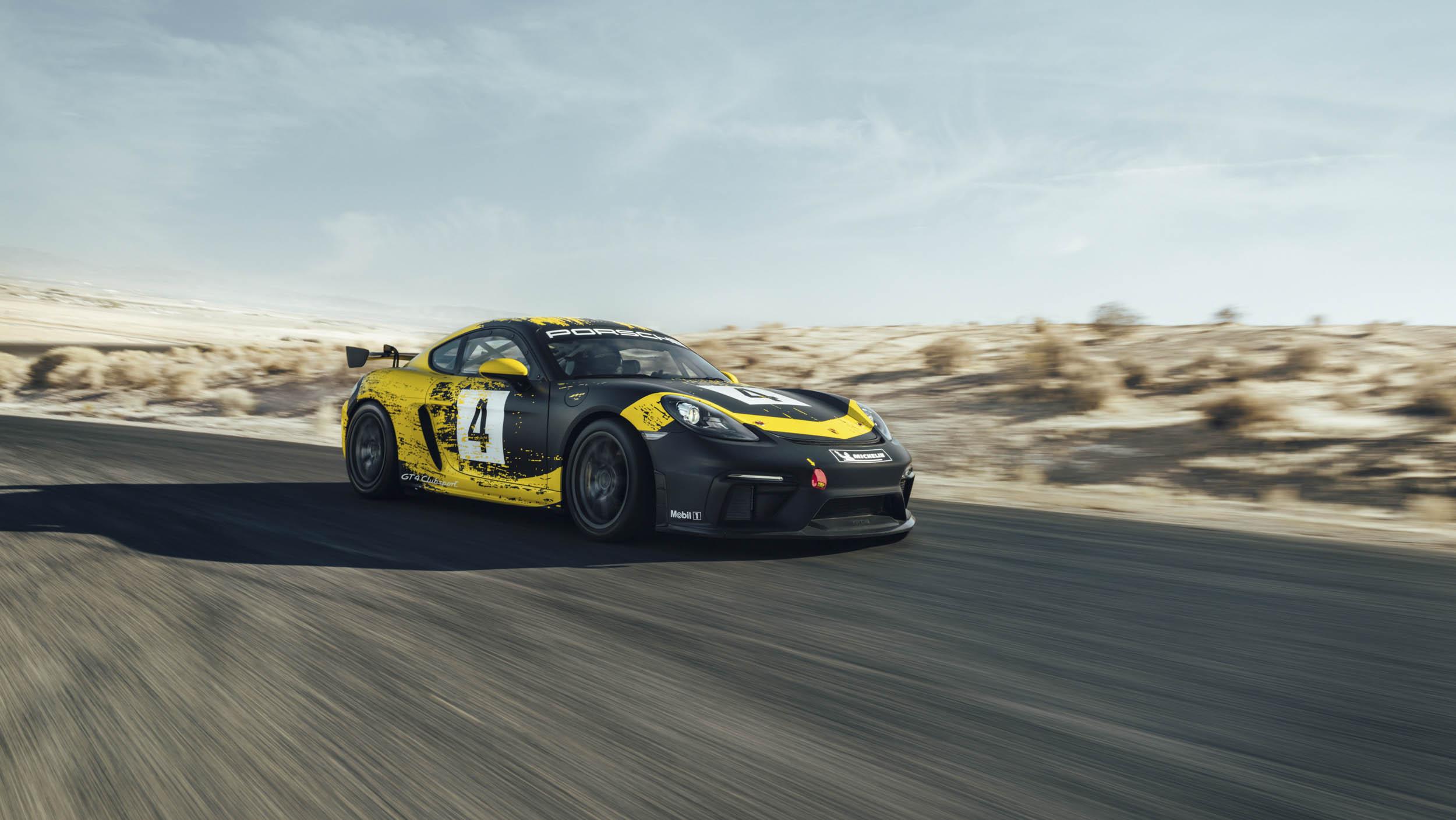 2019 Porsche 718 Cayman GT4 Clubsport on the track
