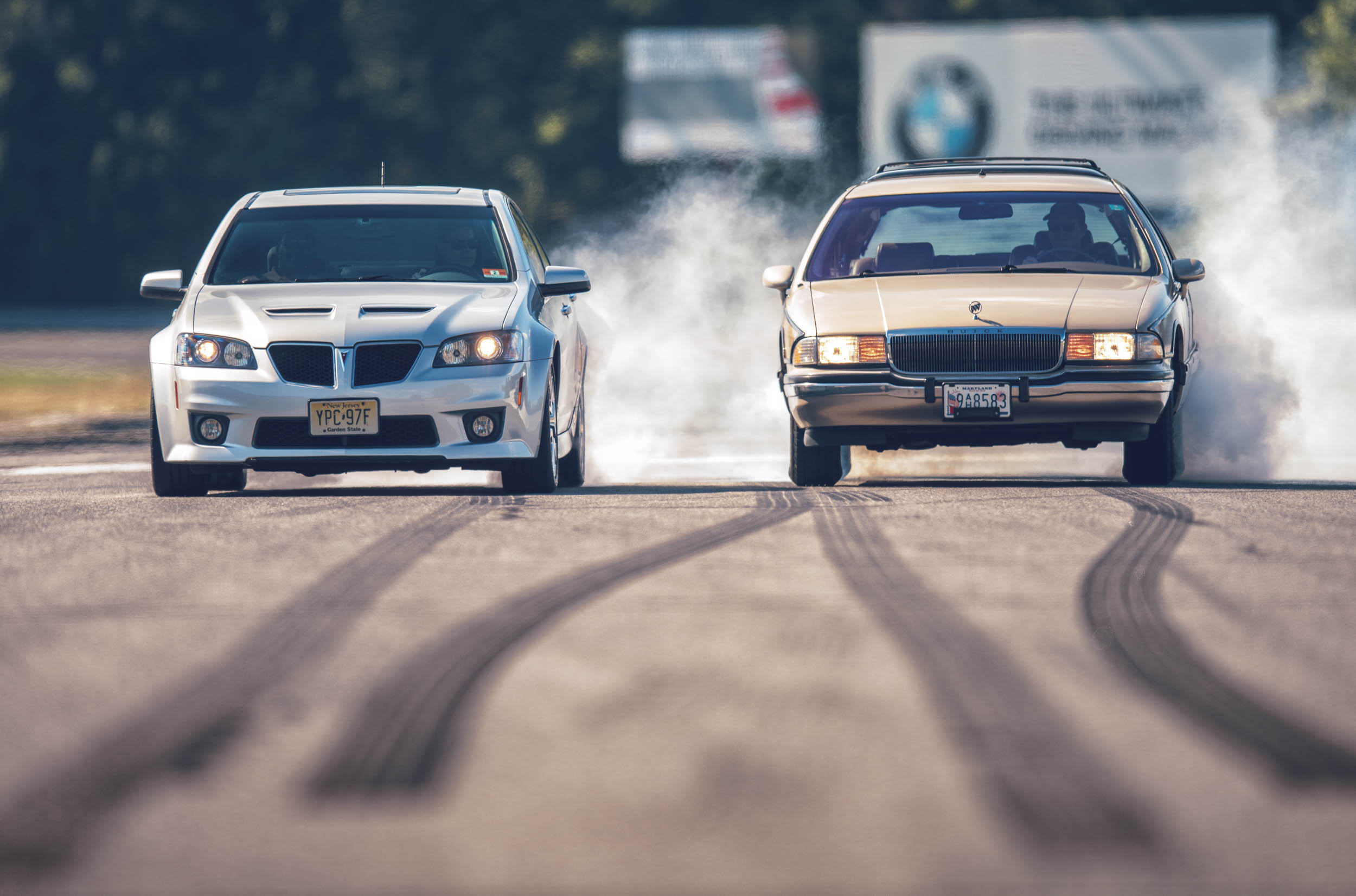 The Pontiac G8 and the Buick Roadmaster prove that beaks and blue-hairs can lay patches at Lime Rock if you give it all they've got.