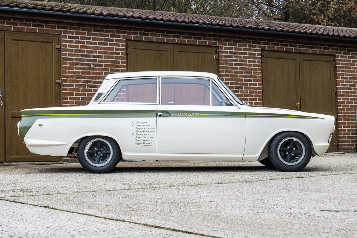 1966 Ford Cortina Lotus. Ex-works side profile