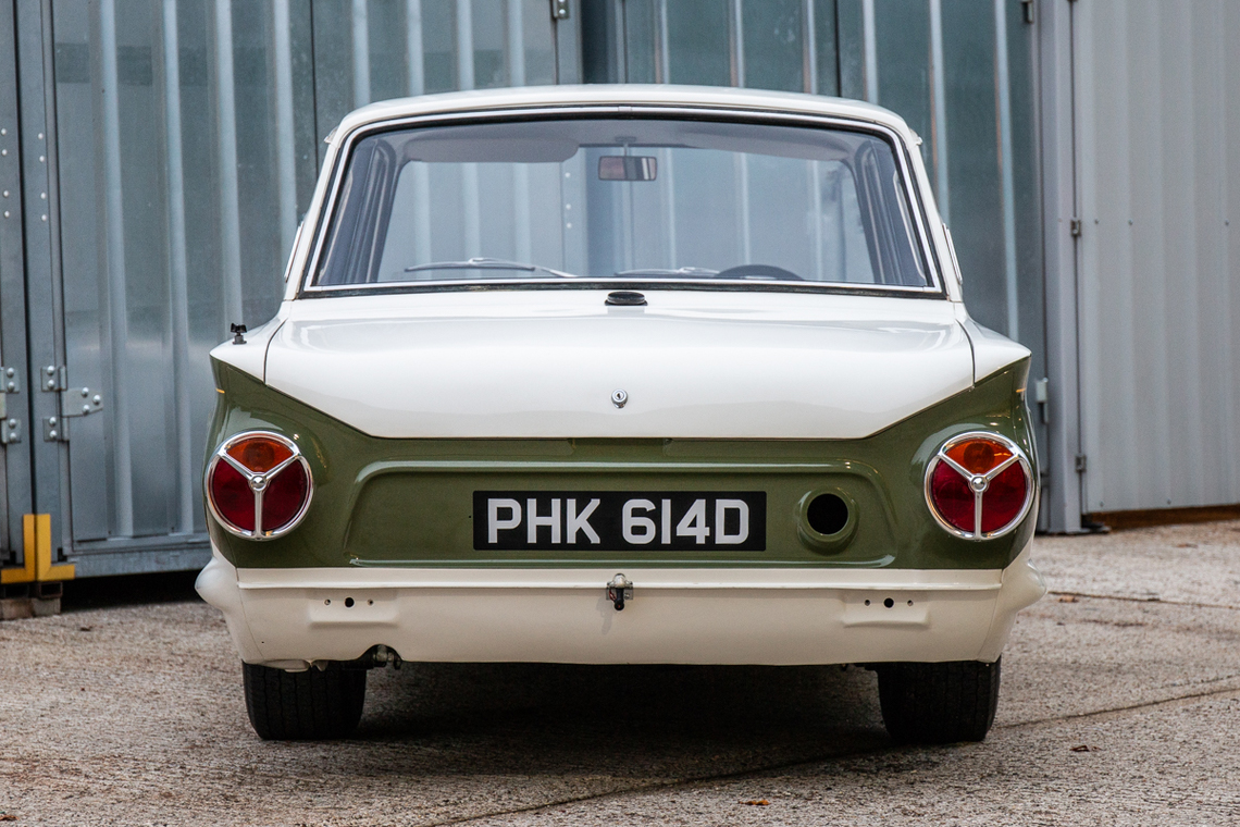 1966 Ford Cortina Lotus. Ex-works rear detail