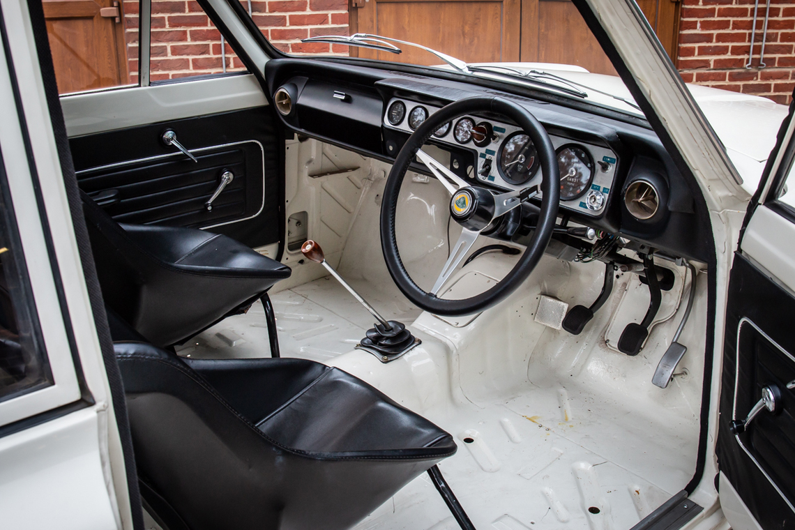 1966 Ford Cortina Lotus. Ex-works interior view