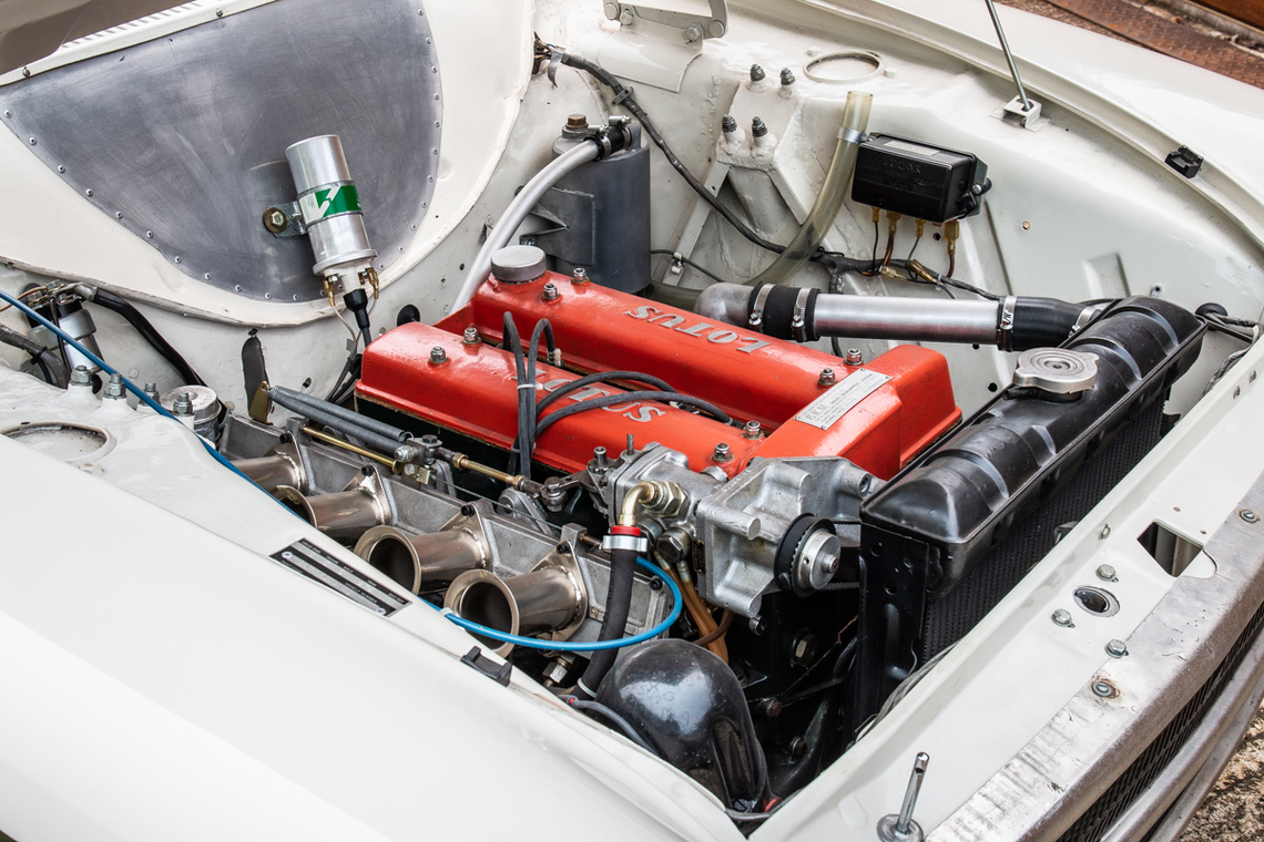 1966 Ford Cortina Lotus. Ex-works engine bay