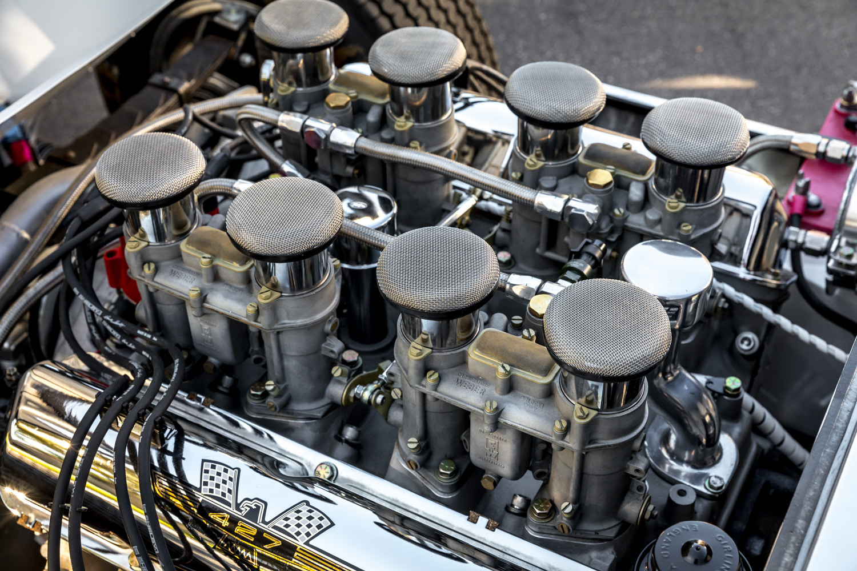 1964 Shelby Daytona Coupe replica engine stacks