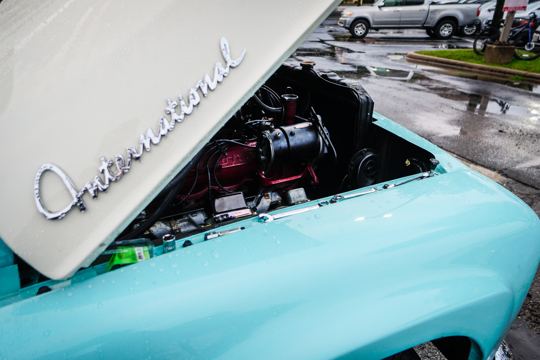 The Drive Home 1962 International Harvester Travelette  hood badging