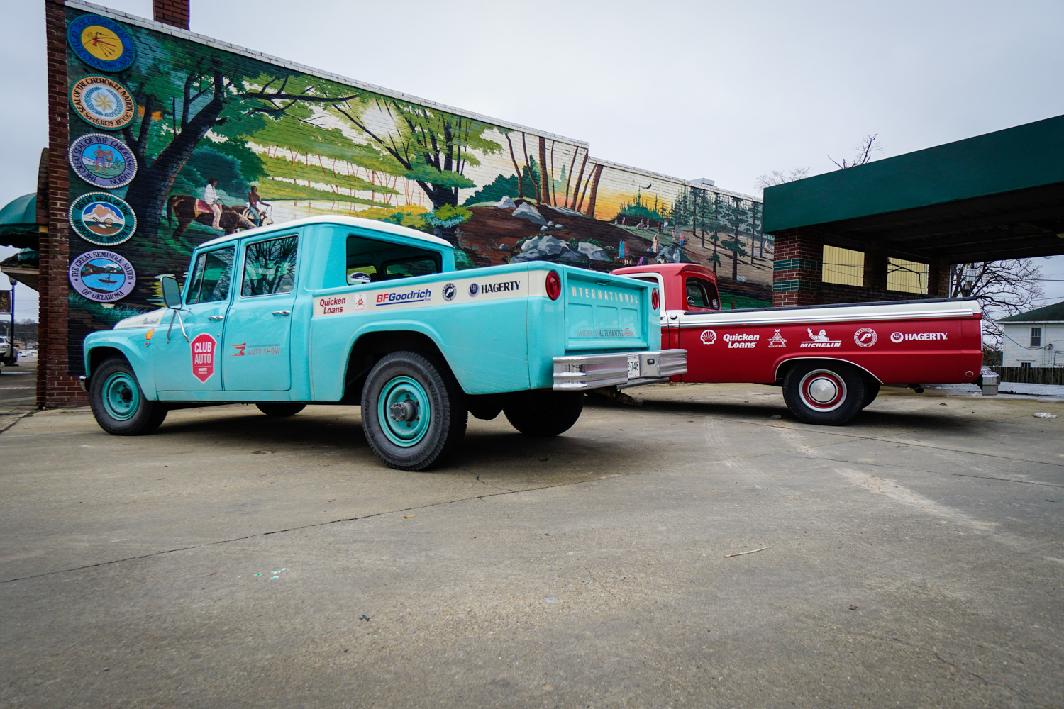 The Drive Home 1962 International Harvester Travelette  and ford f100
