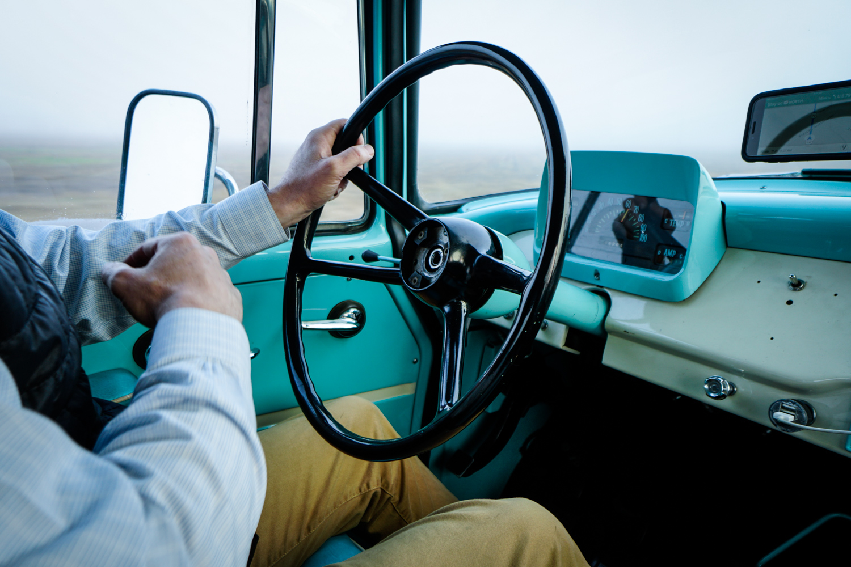 The Drive Home 1962 International Harvester Travelette loose steering nut