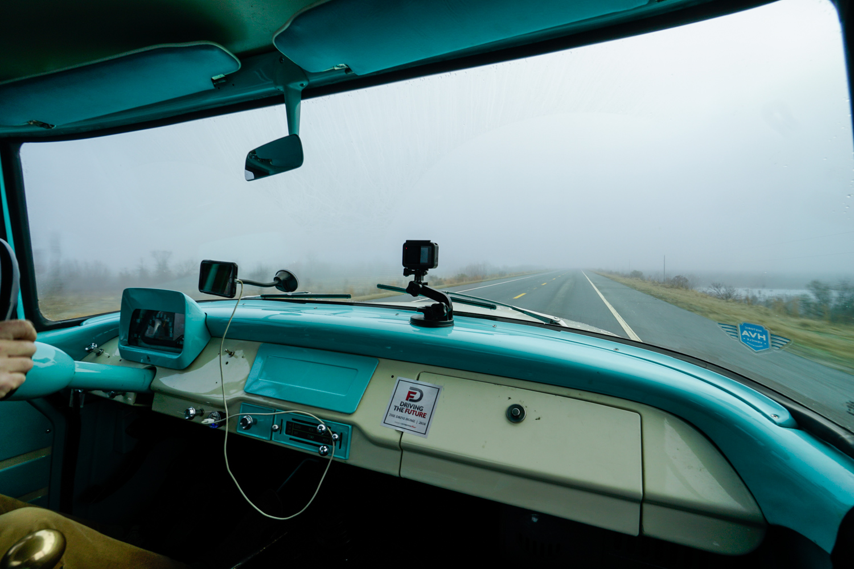The Drive Home 1962 International Harvester Travelette thick fog