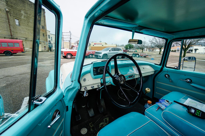 The Drive Home 1962 International Harvester Travelette interior