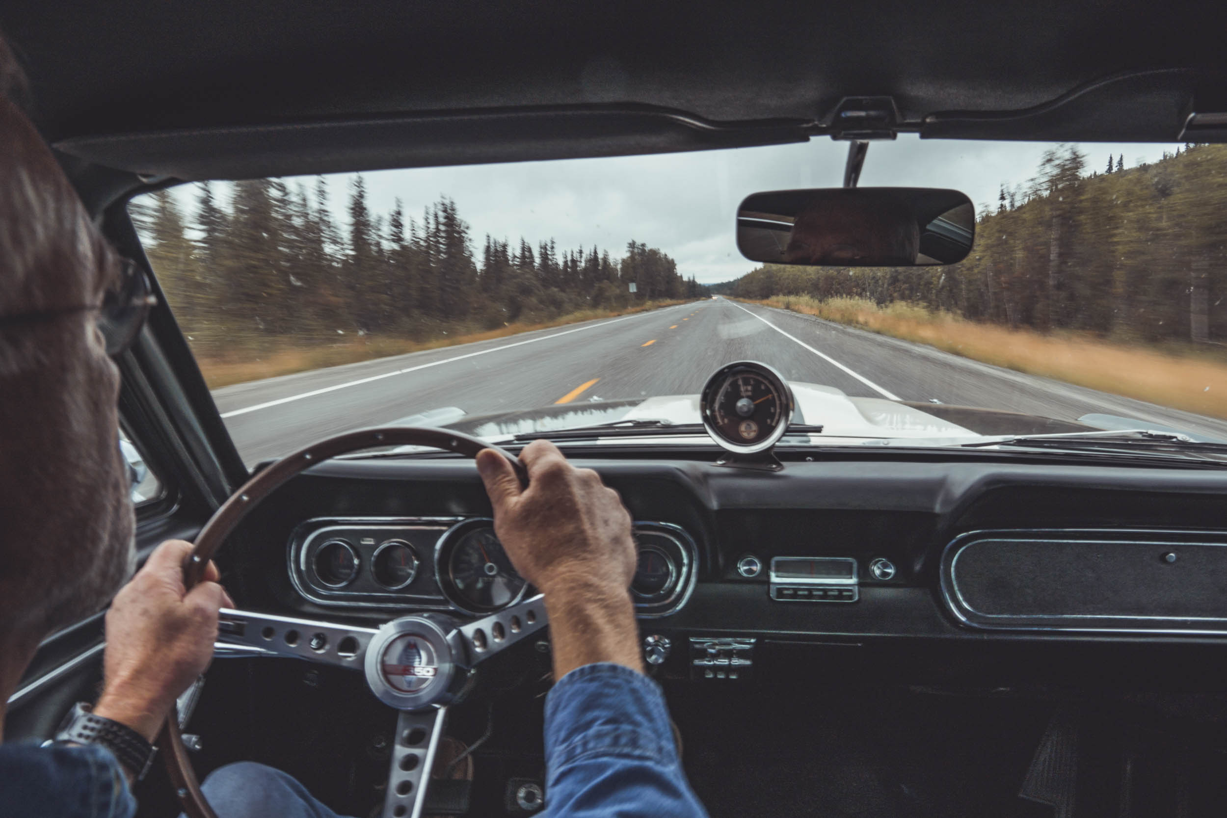 Tom Driving a Ford Bronco through Alaska
