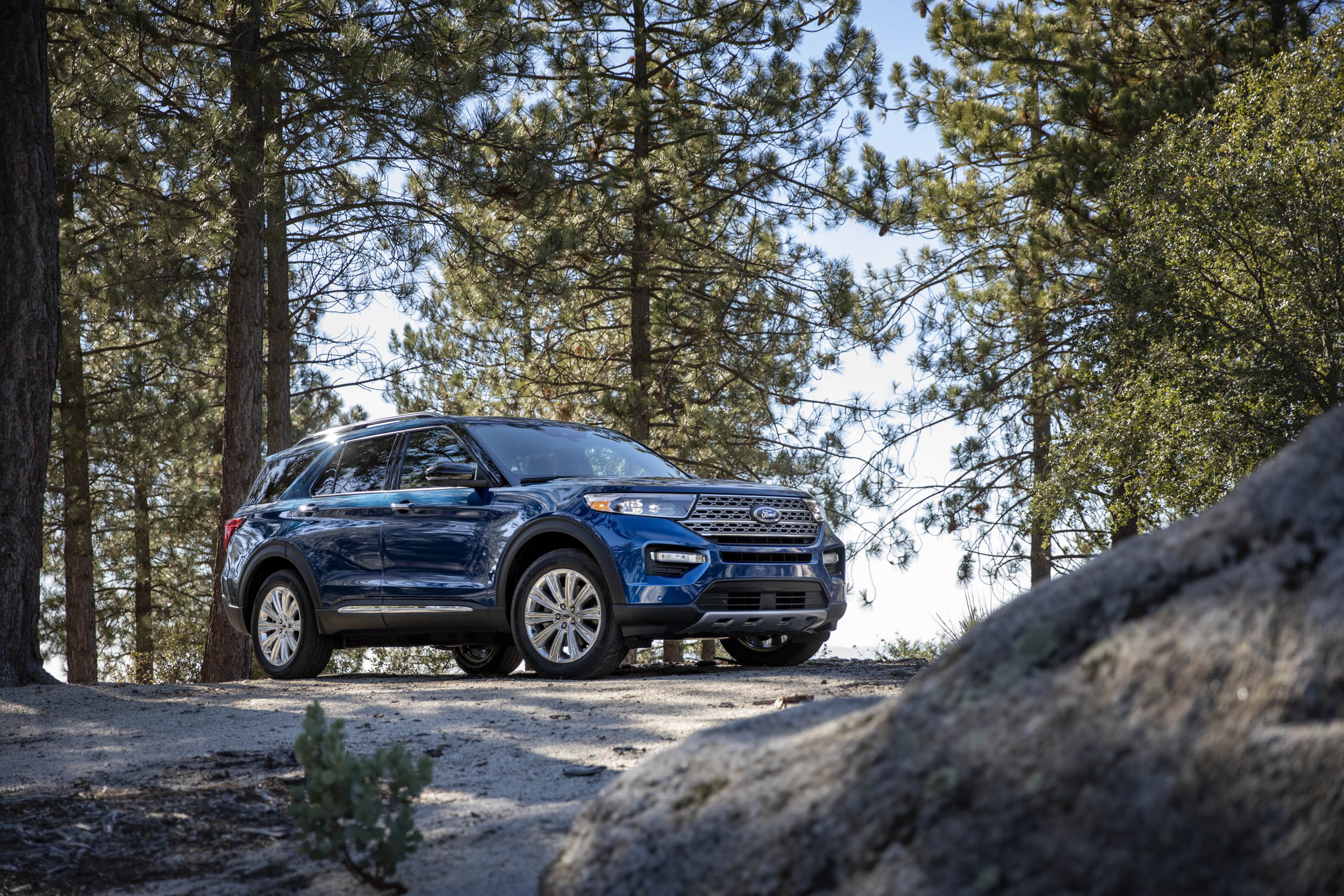 2020 Ford Explorer Limited in the woods