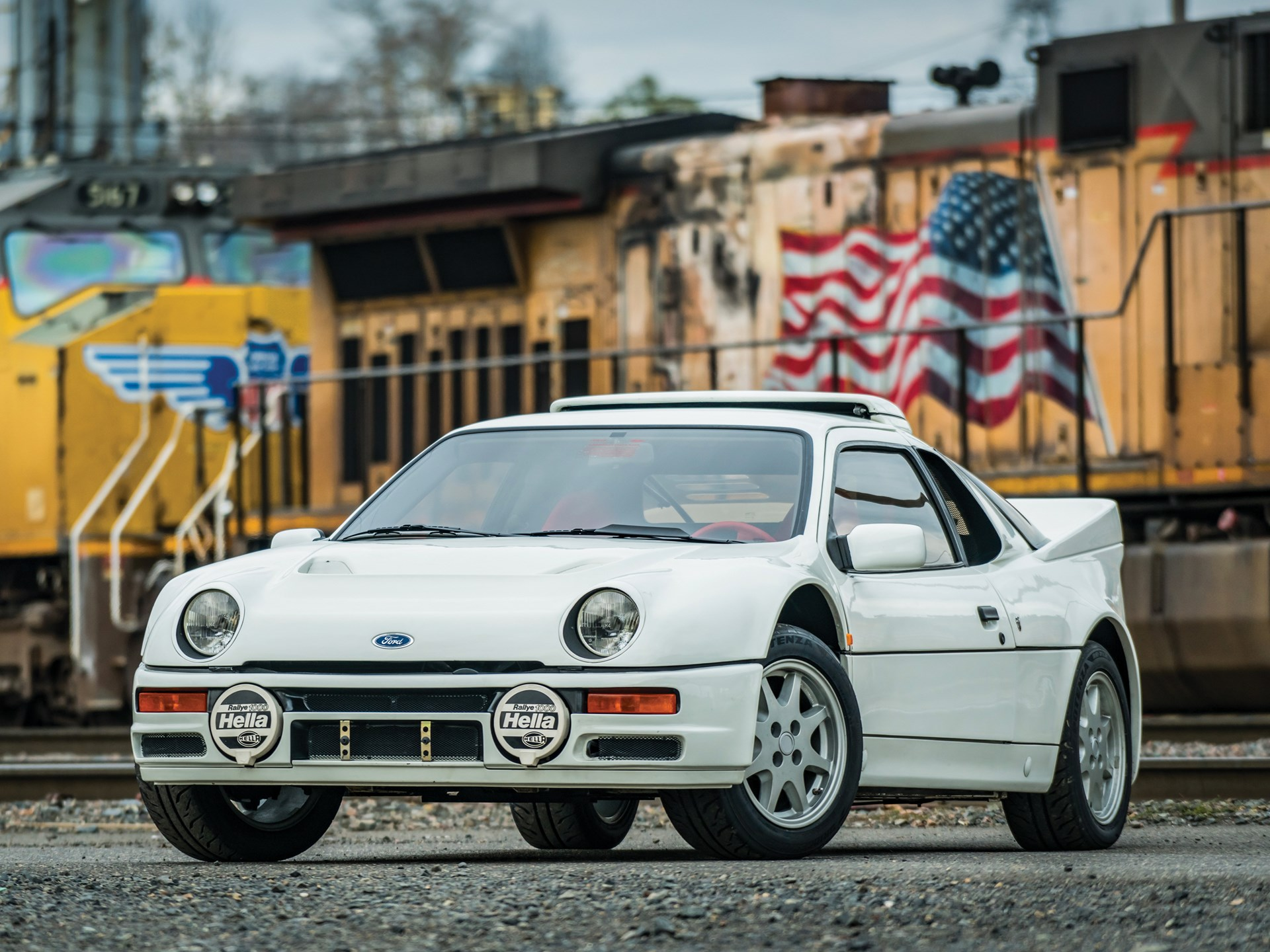1986 Ford RS200 3/4 front train
