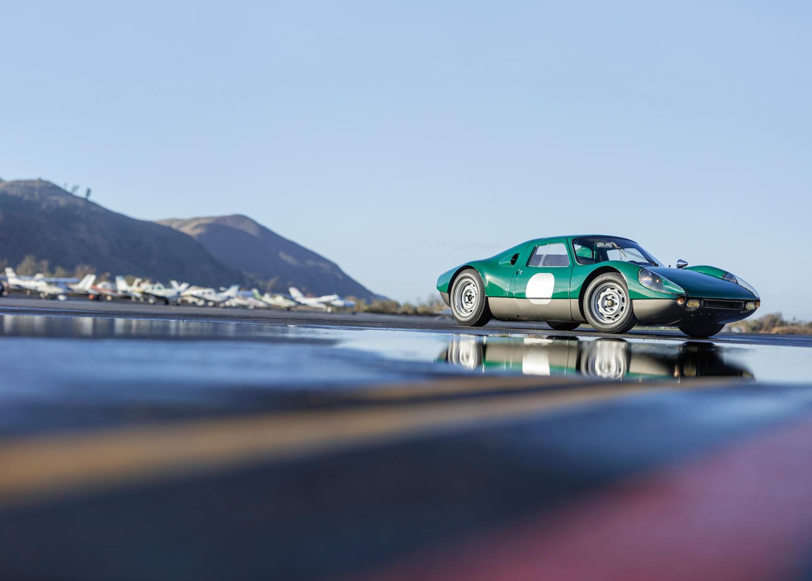 1964 Porsche 904 GTS 3/4 green low