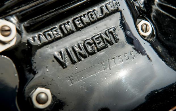 1951 Vincent Series C Black Shadow vin plate