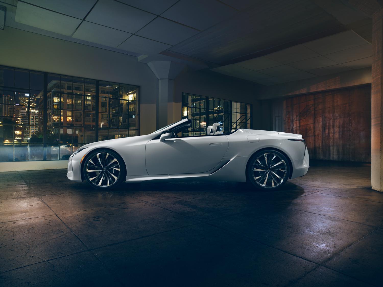 2020 Lexus LC Convertible concept side profile