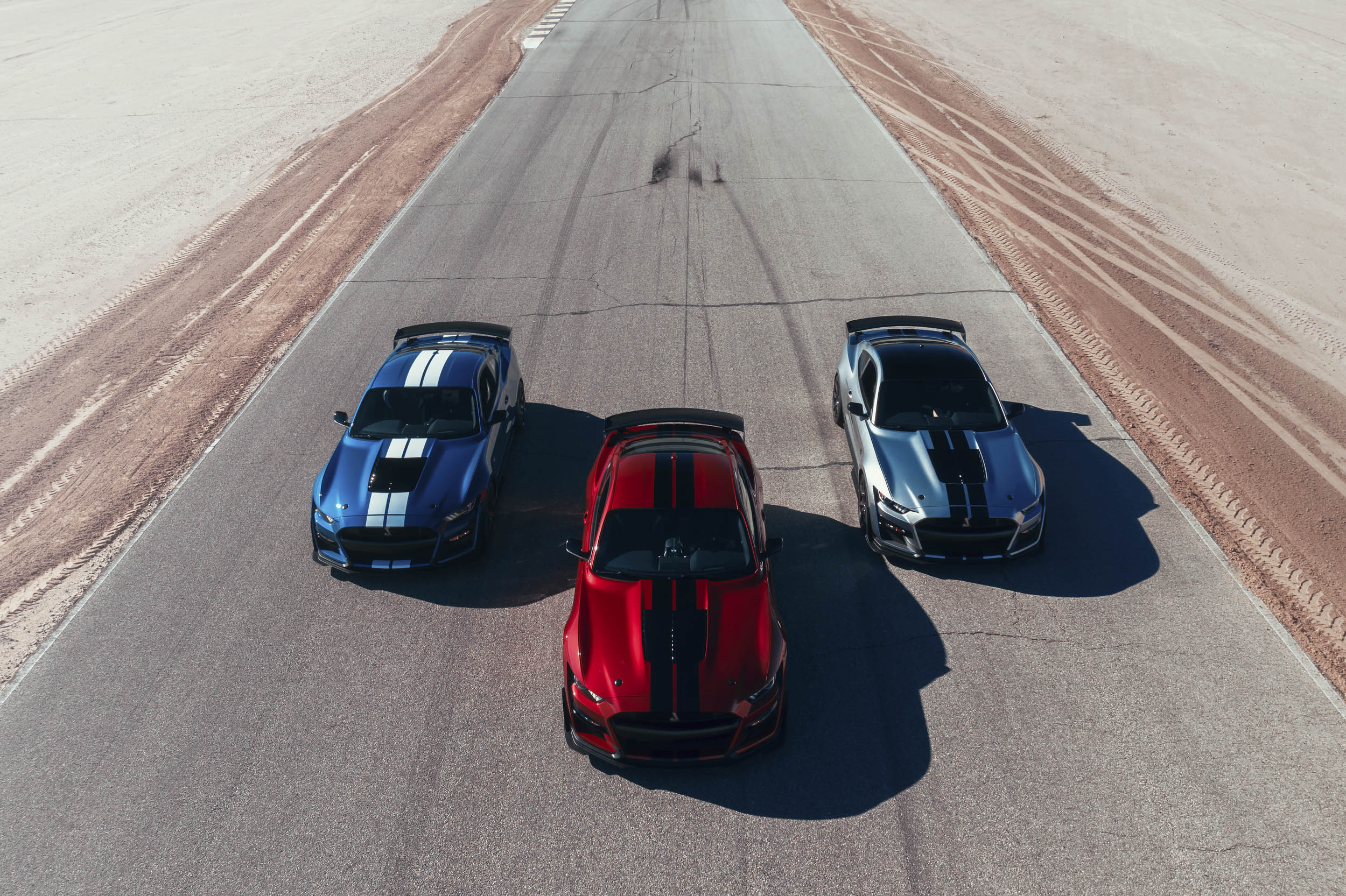 3 colors offered for the 2020 Mustang Shelby GT500