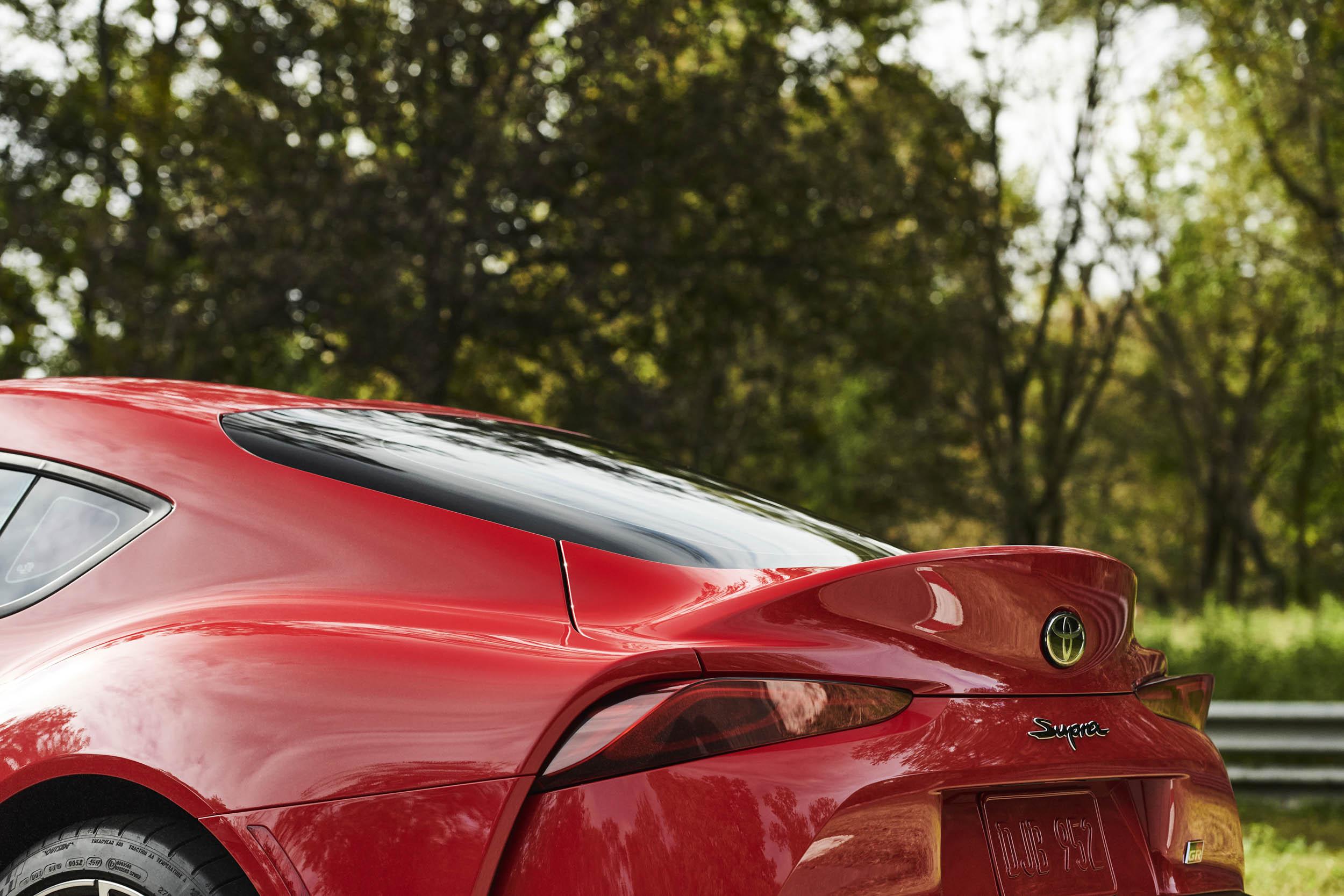 2020 Toyota Supra rear spoiler