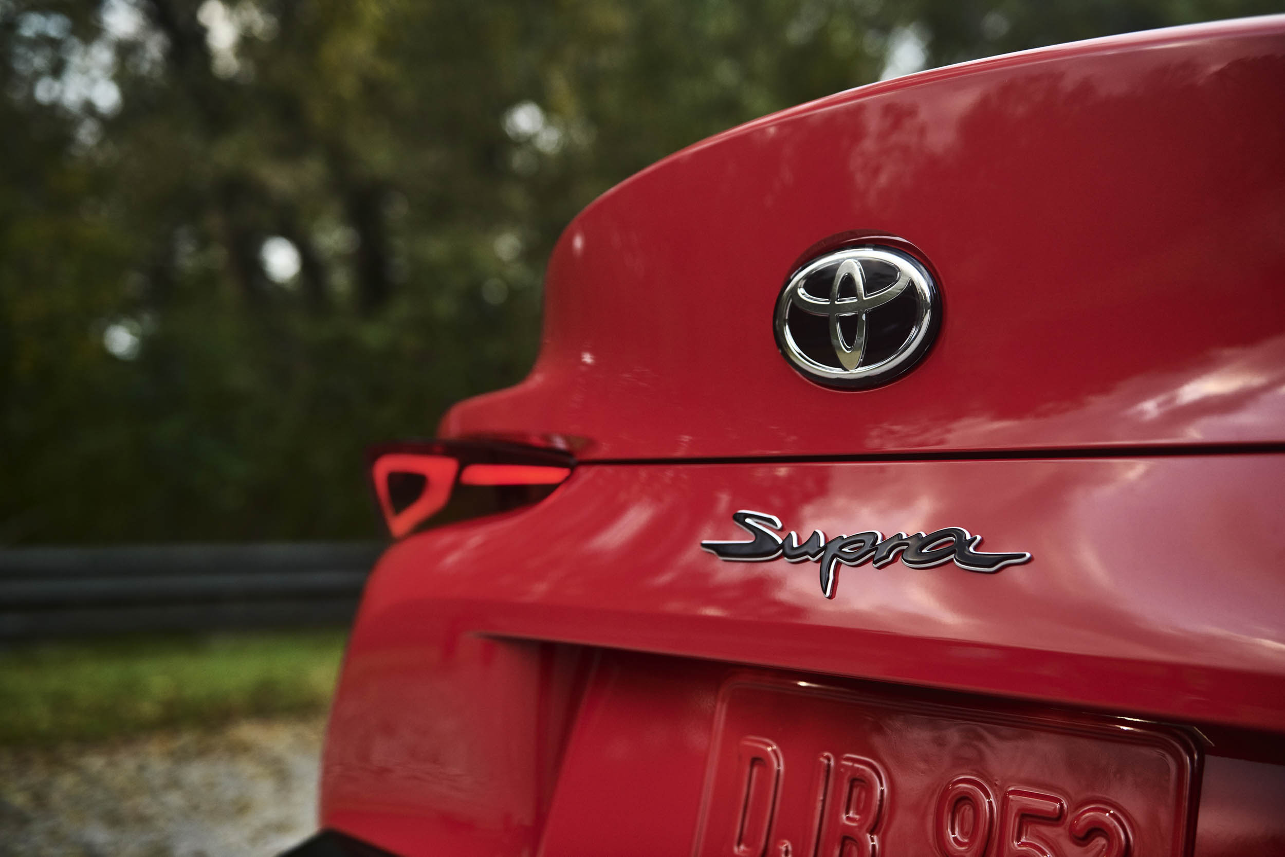 2020 Toyota Supra rear badge detail