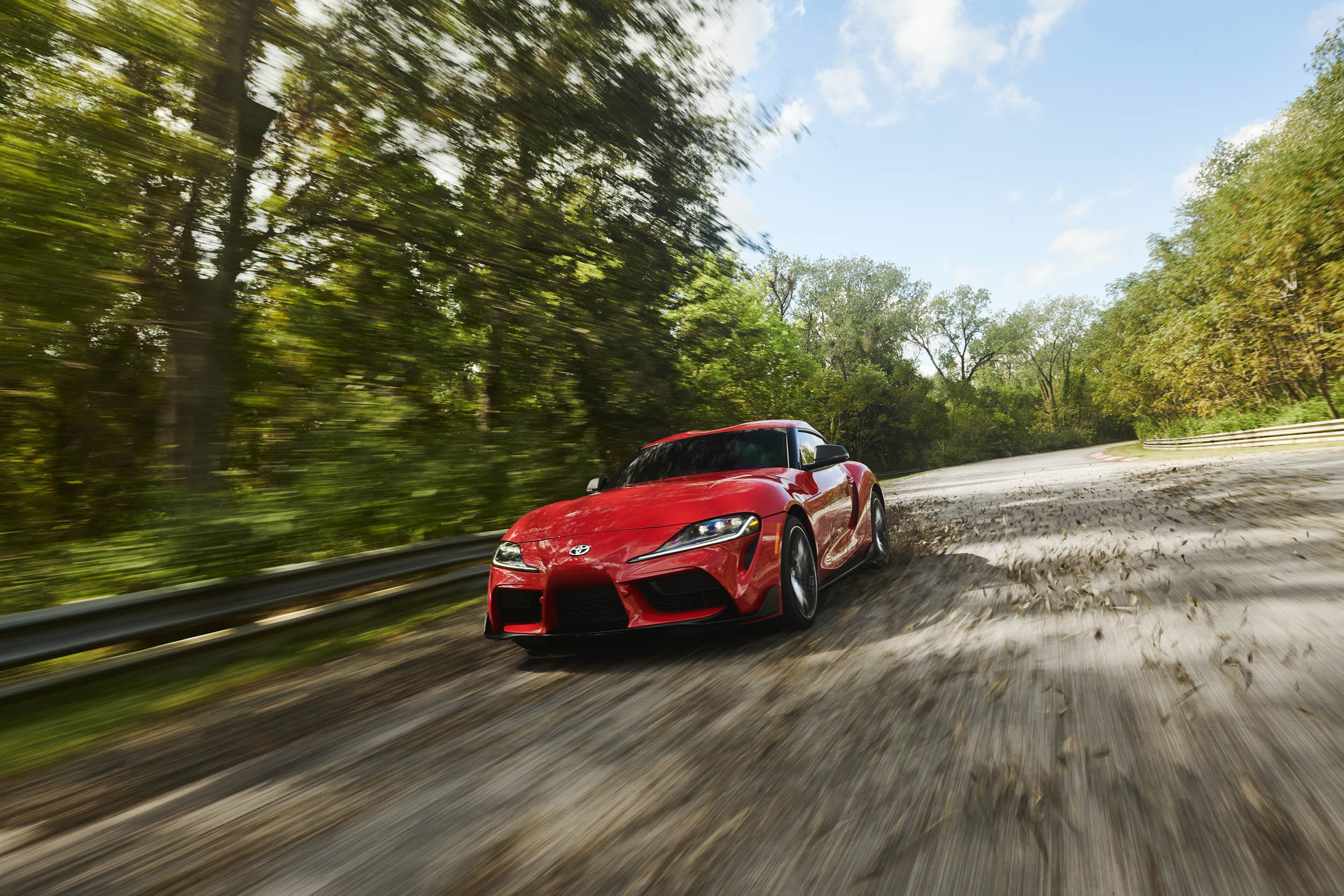 2020 Toyota Supra low front driving