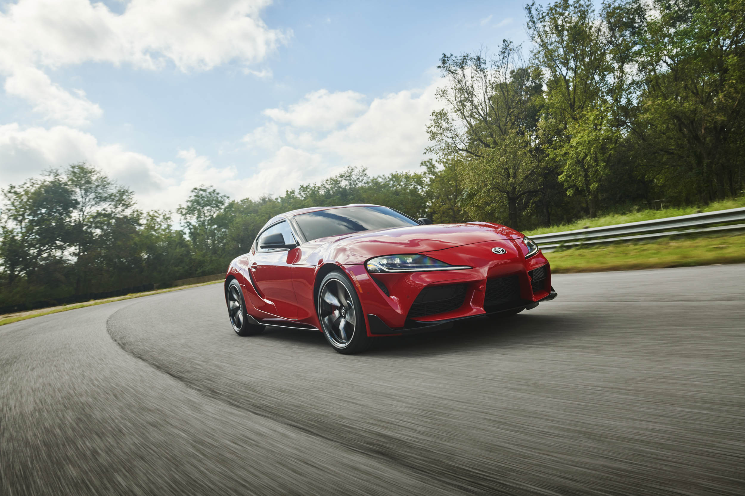 Red 2020 Toyota Supra