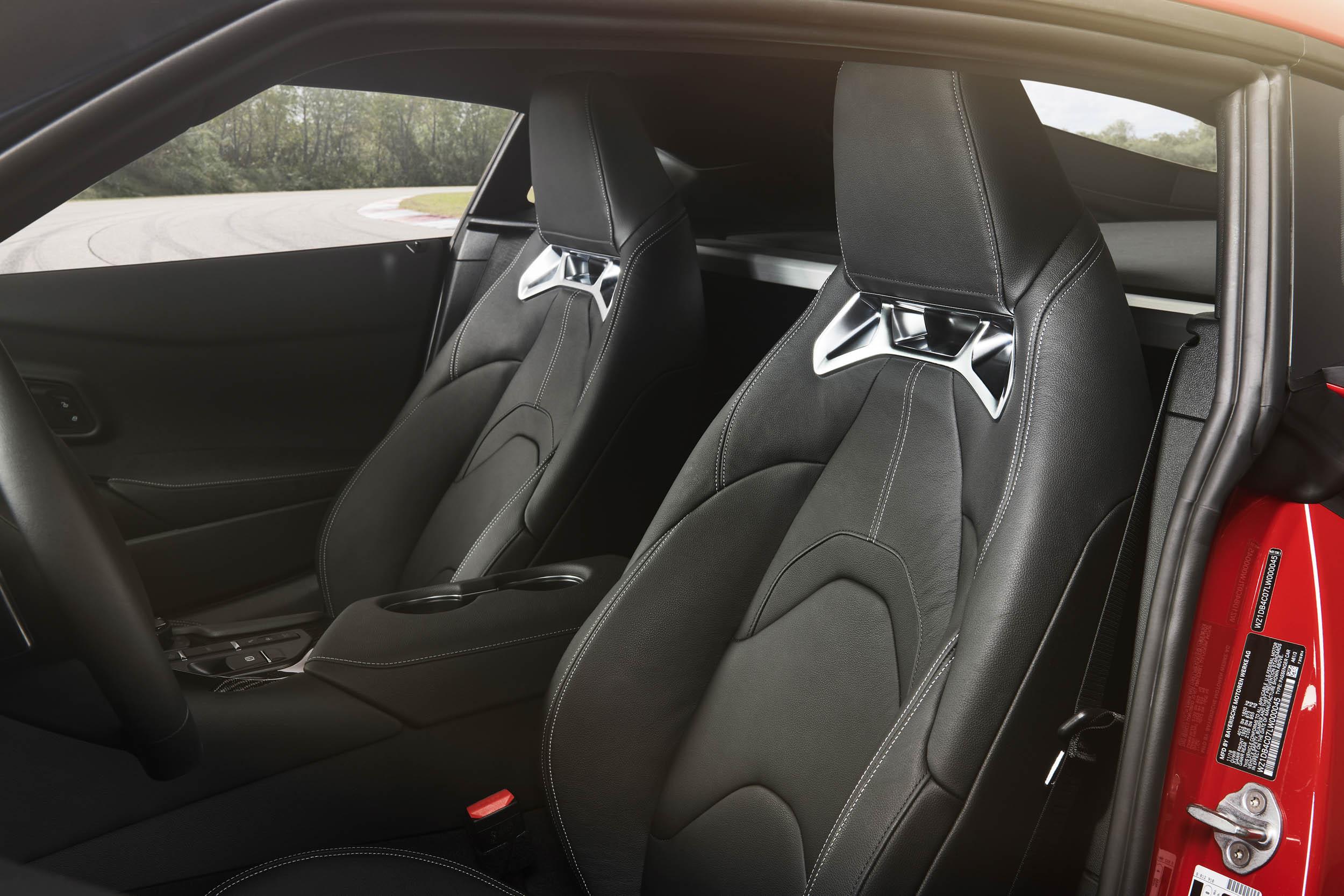 2020 Toyota Supra seat detail