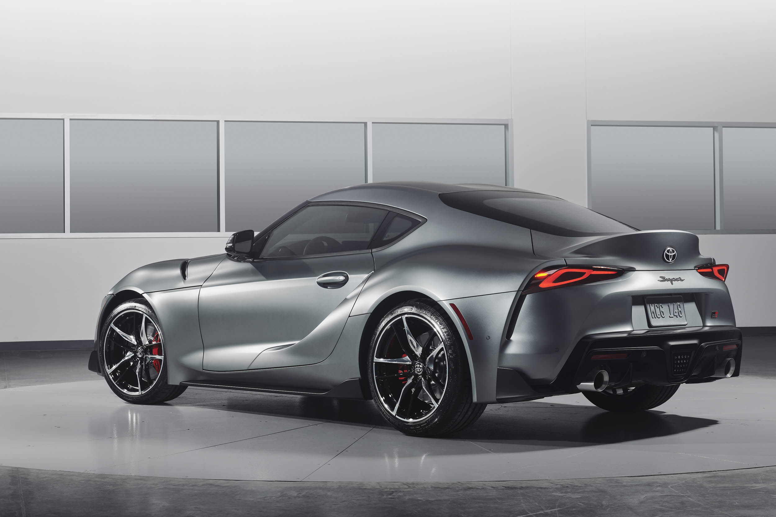 2020 Toyota Supra Matte Grey rear 3/4
