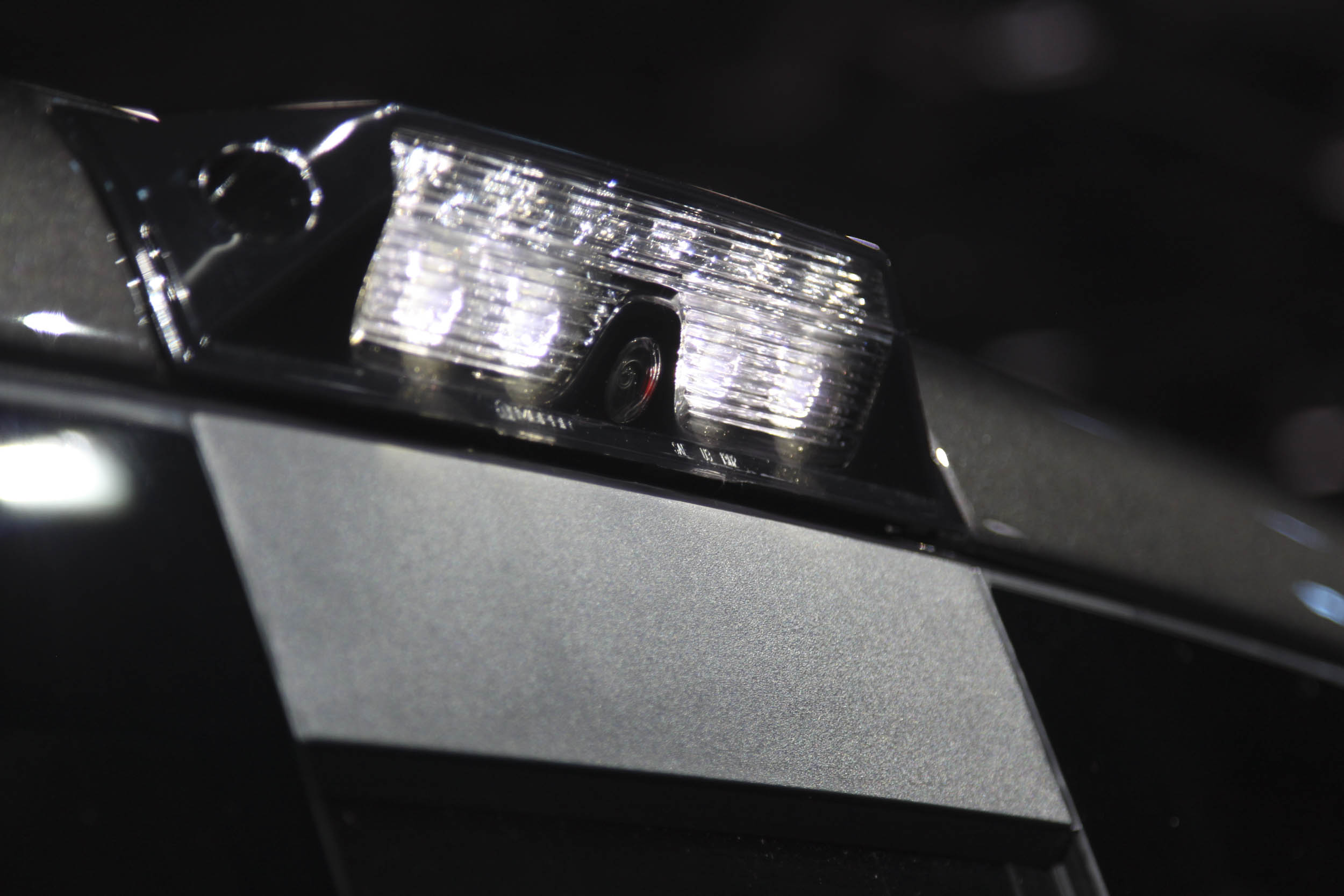 The small camera is mounted in the third brake light which also acts as a bed light.
