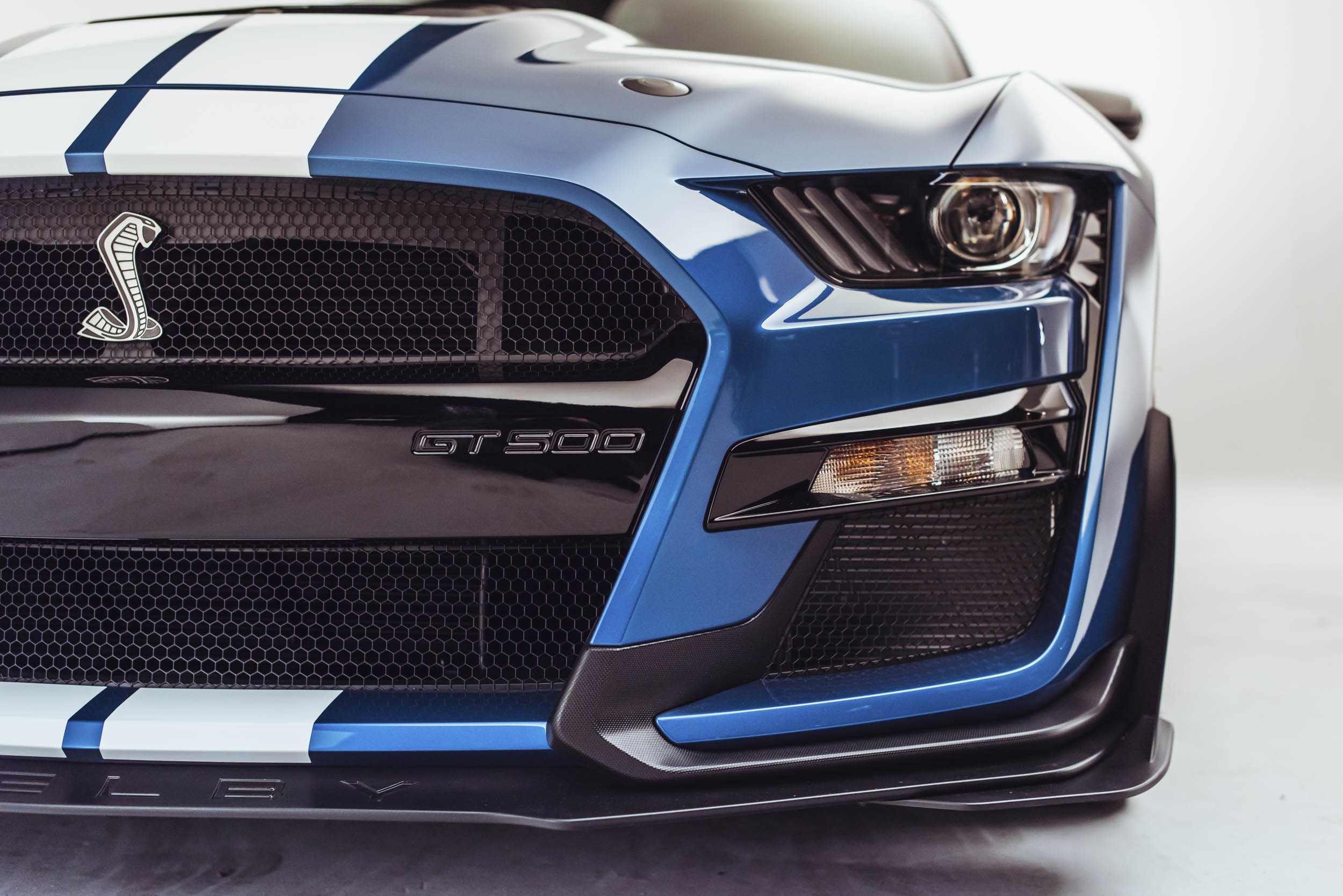 2020 Shelby GT500 front headlight detail