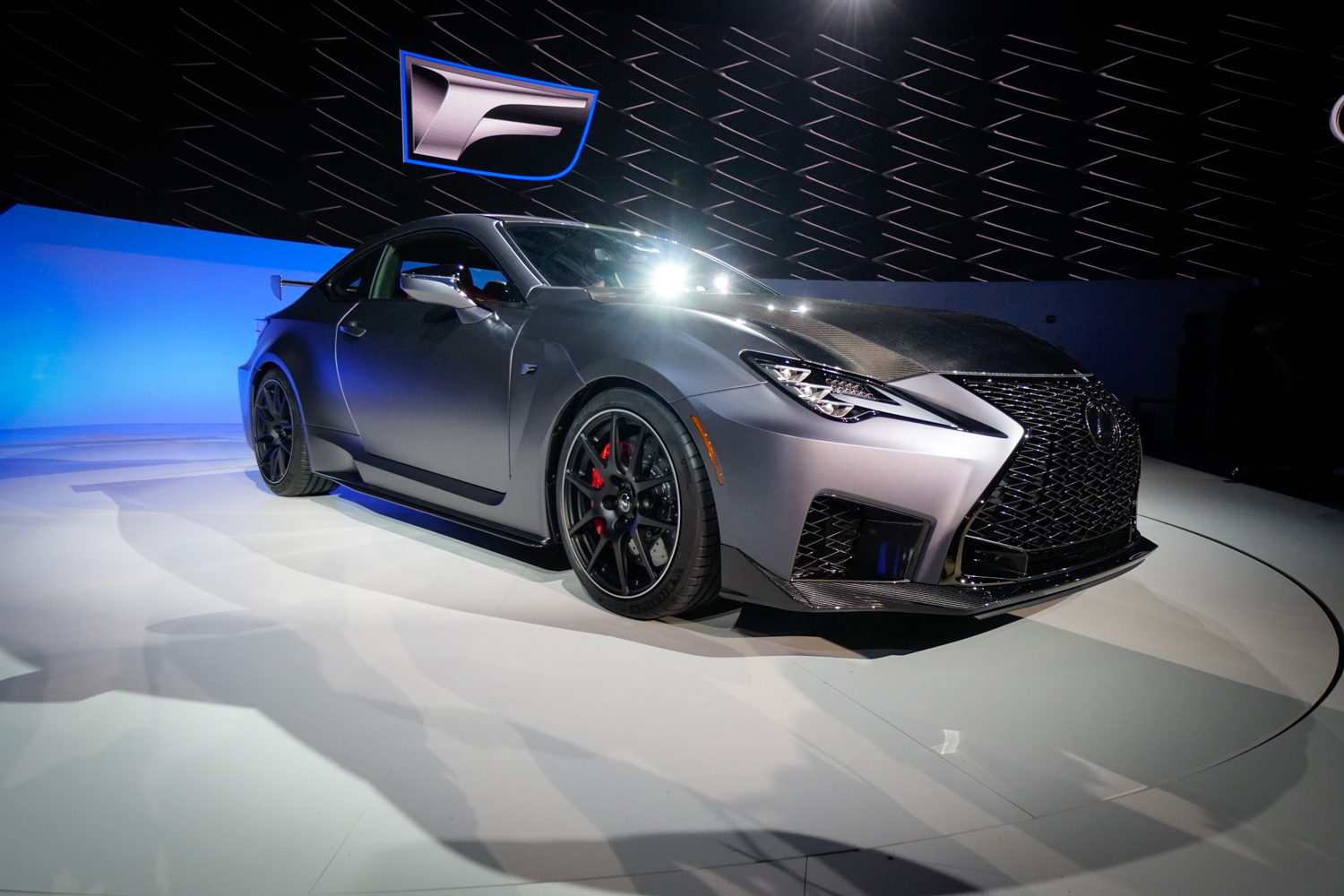 Silver 2020 Lexus RC F Track Edition at NAIAS