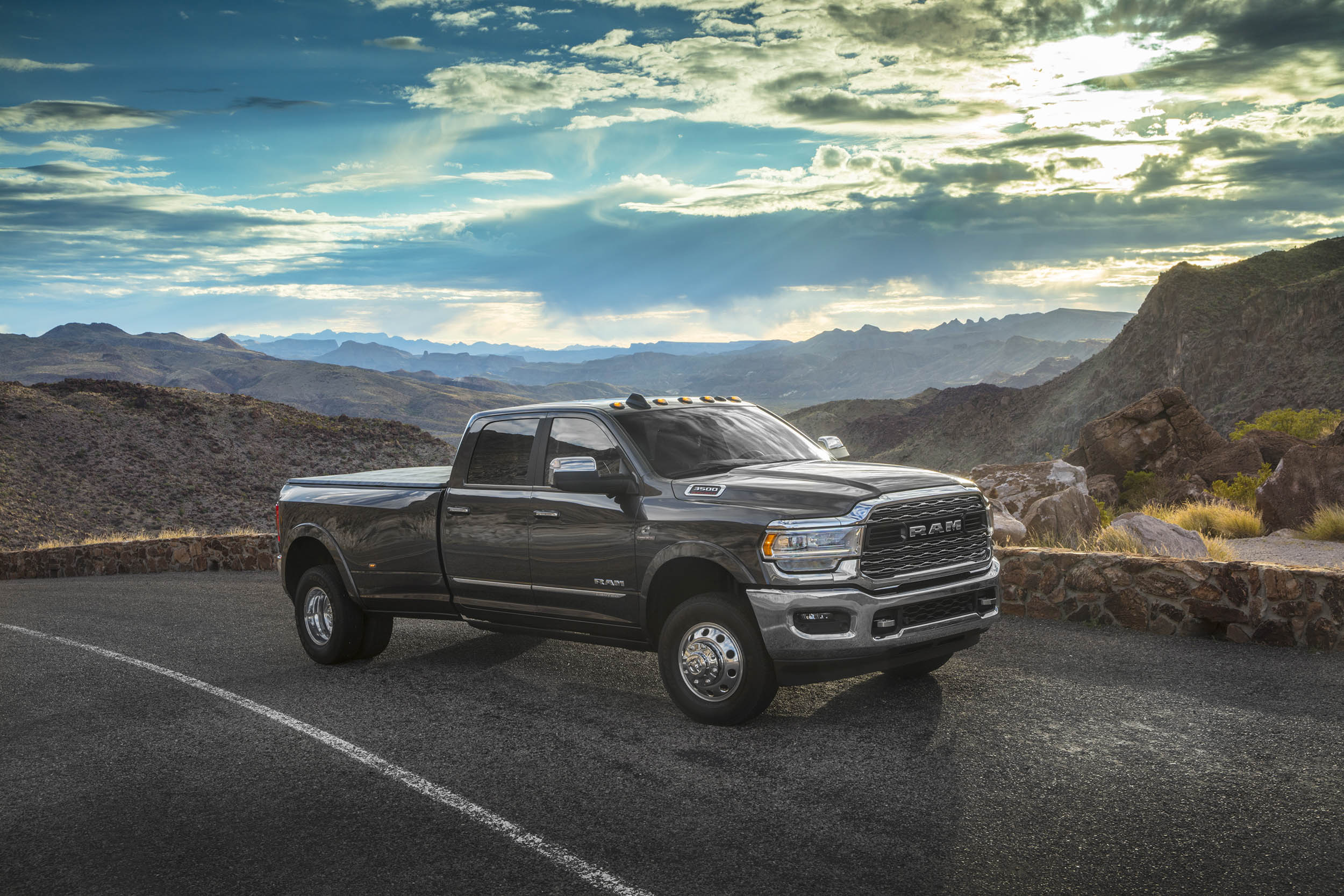 2019 RAM 3500 Dually front 3/4