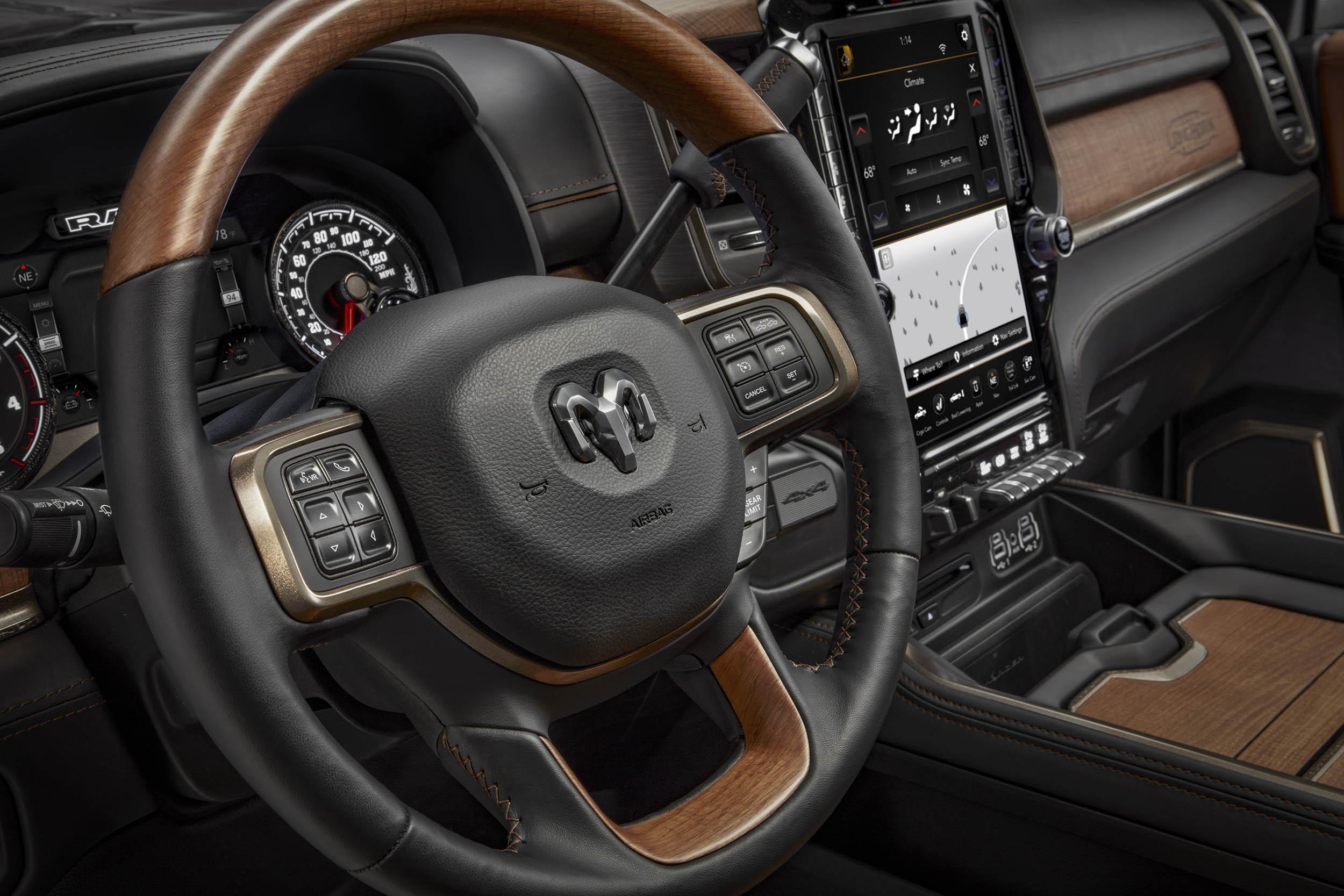 2019 RAM 2500 LongHorn steering wheel