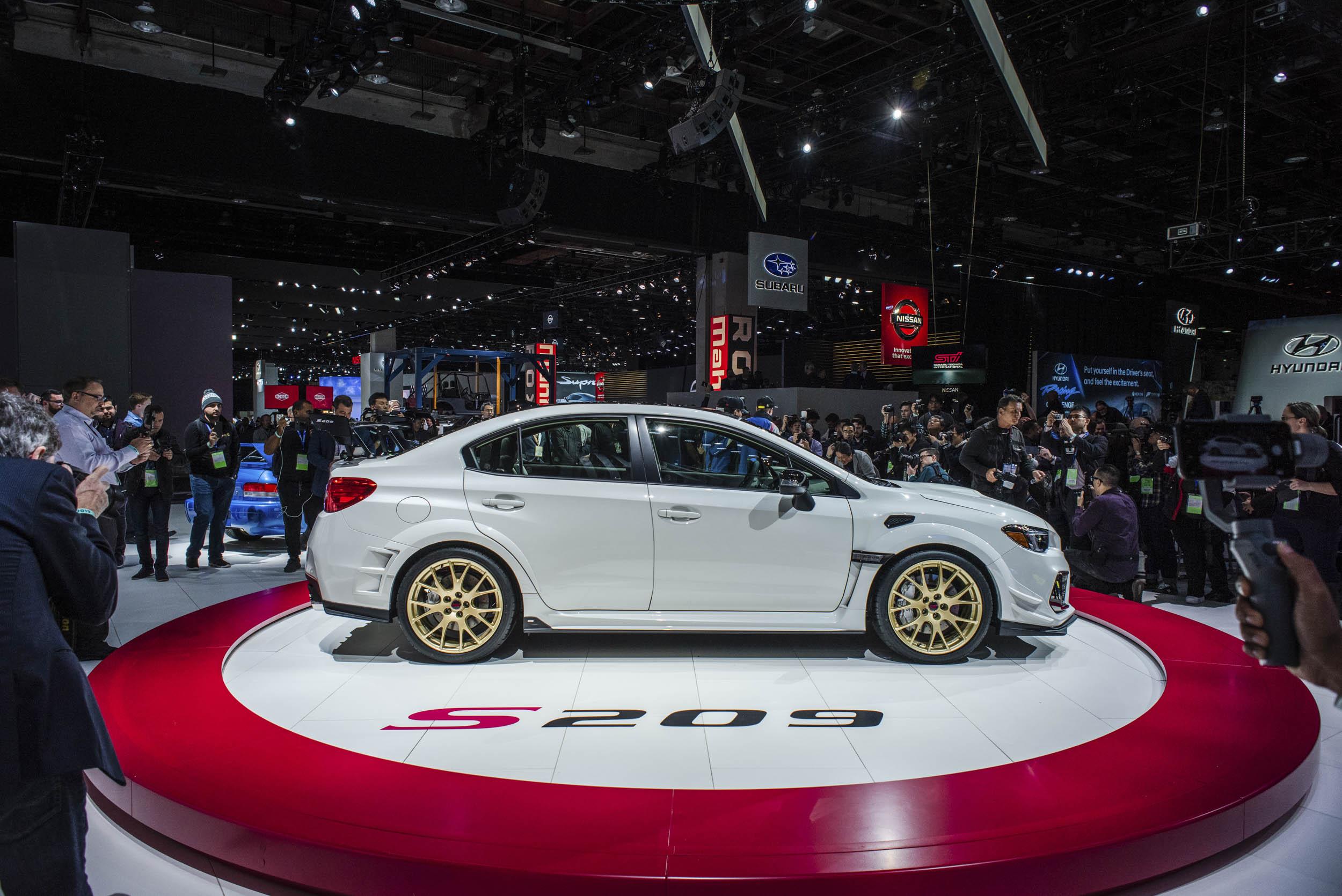 2020 Subaru WRX STI S209 profile side profile at the NAIAS