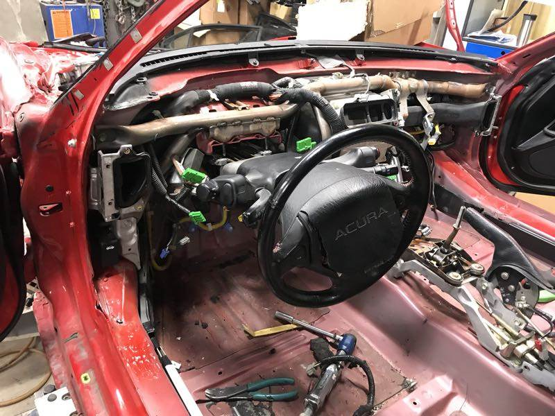 Zanardi Edition Acura NSX stripped interior