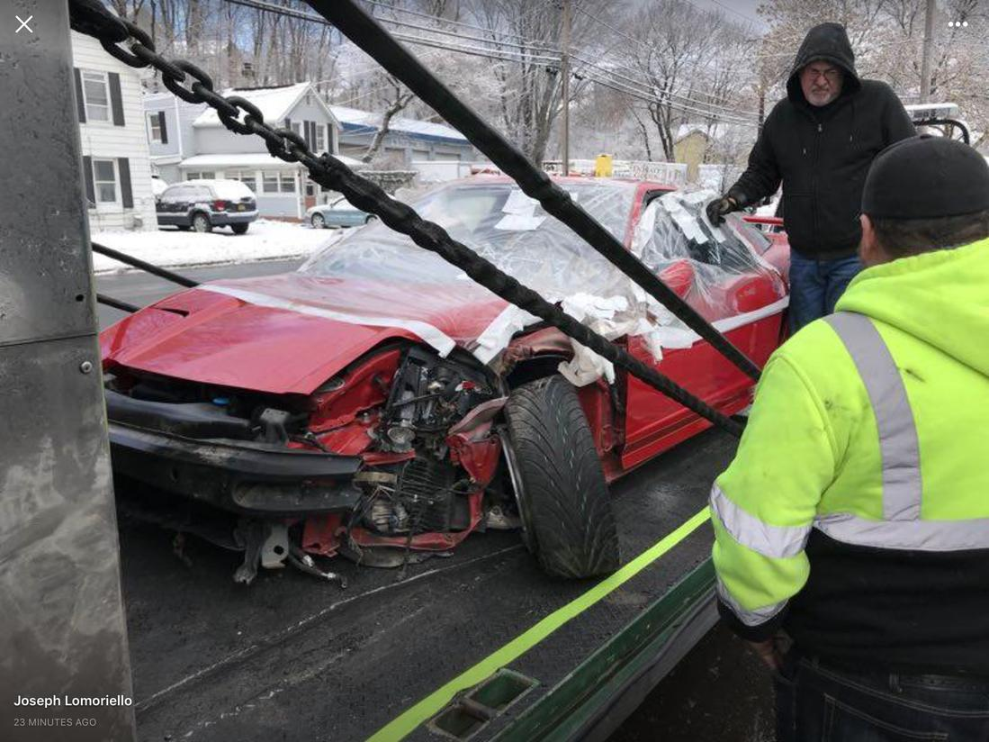 damaged Zanardi Edition Acura NSX